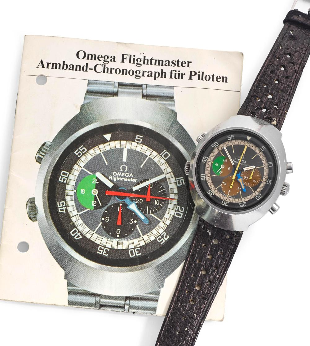 Omega Flightmaster with manual in The Colourful World of Vintage Watches for A Collected Man London