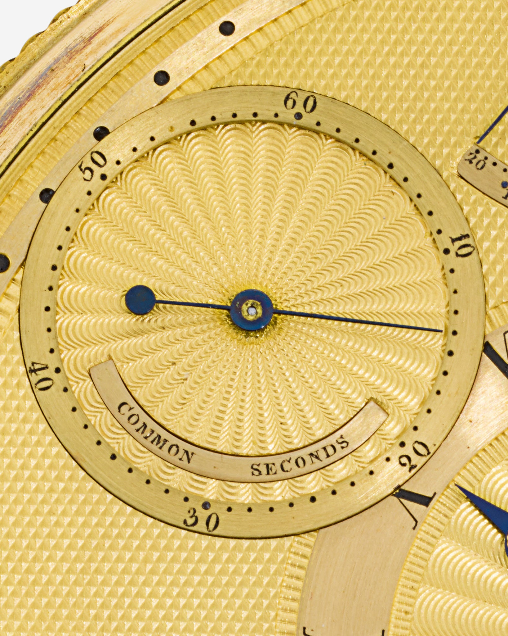 The common seconds sub-dial on King George's III's watch made by Breguet