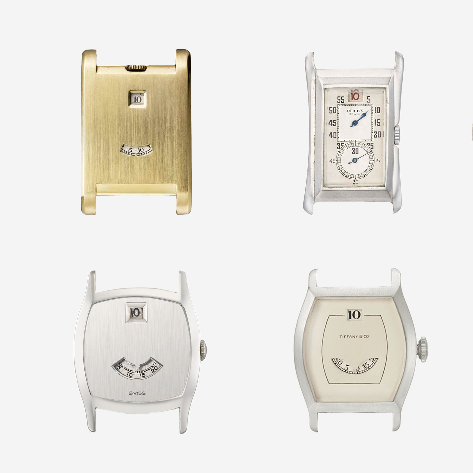 Vintage jump hour watches from Cartier, Rolex, Patek Philippe and Tiffany for A Collected Man London