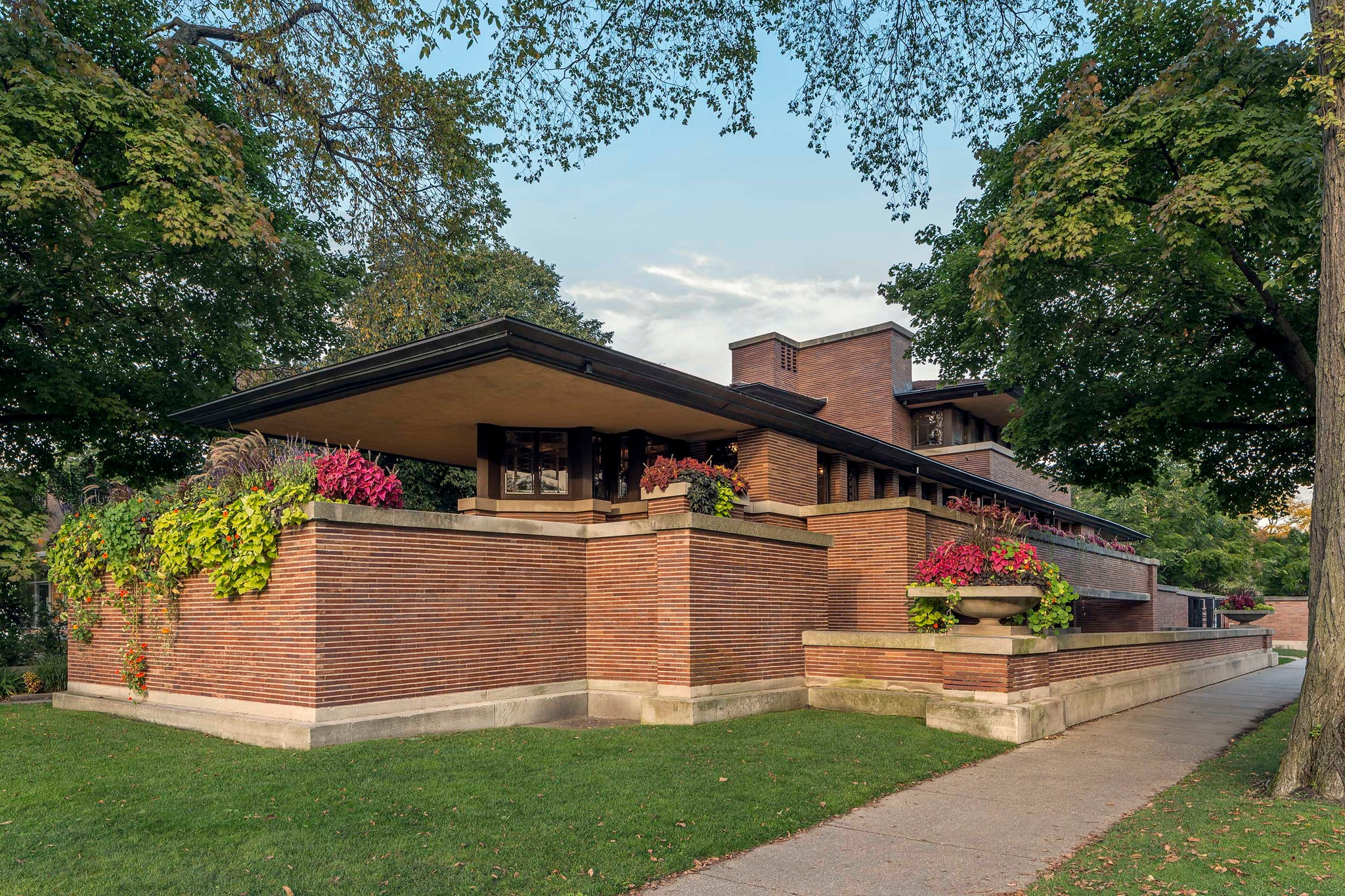 Frank Lloyd Wright Robie house in Chicago