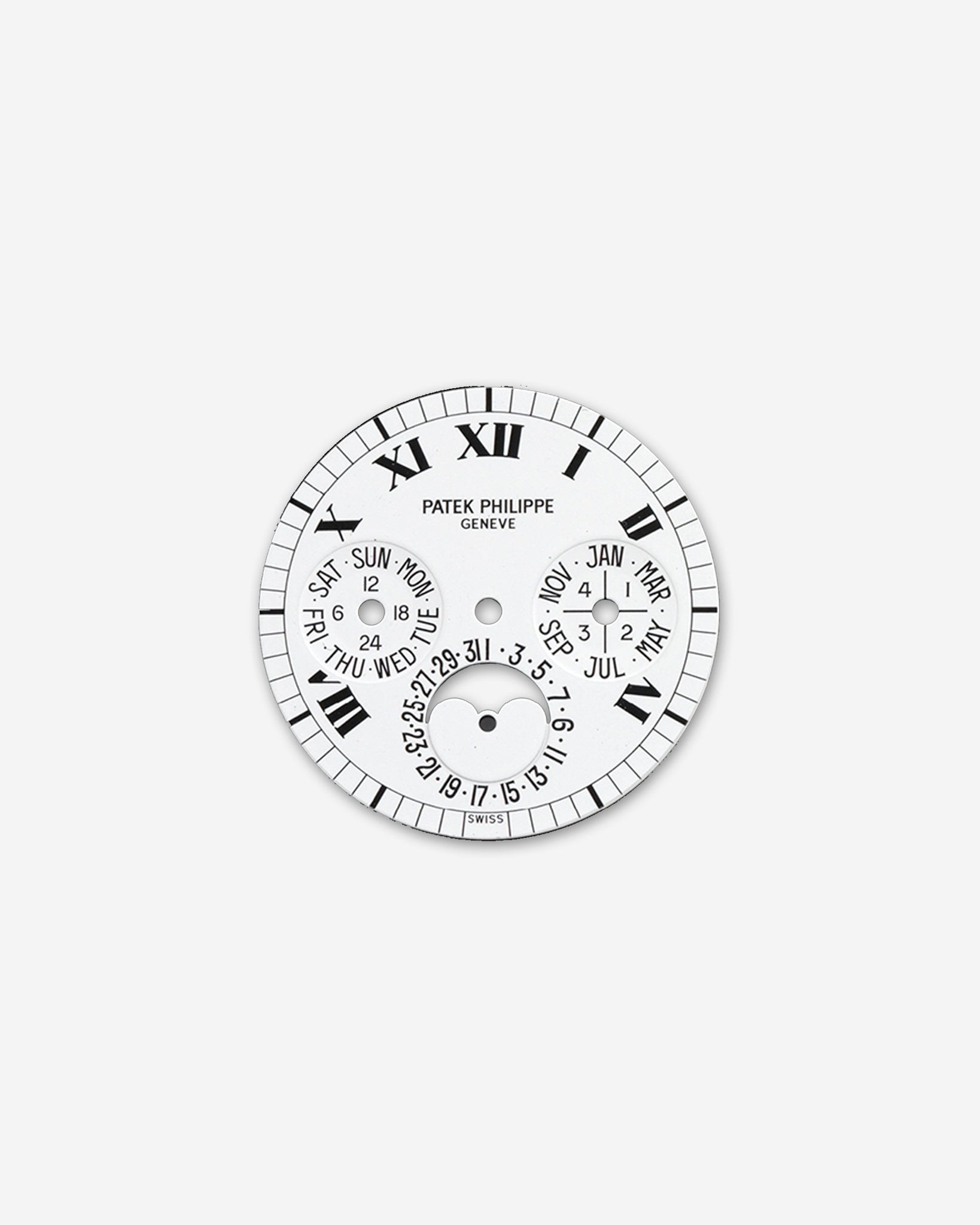 Roman numeral dial for a Patek Philippe 3940