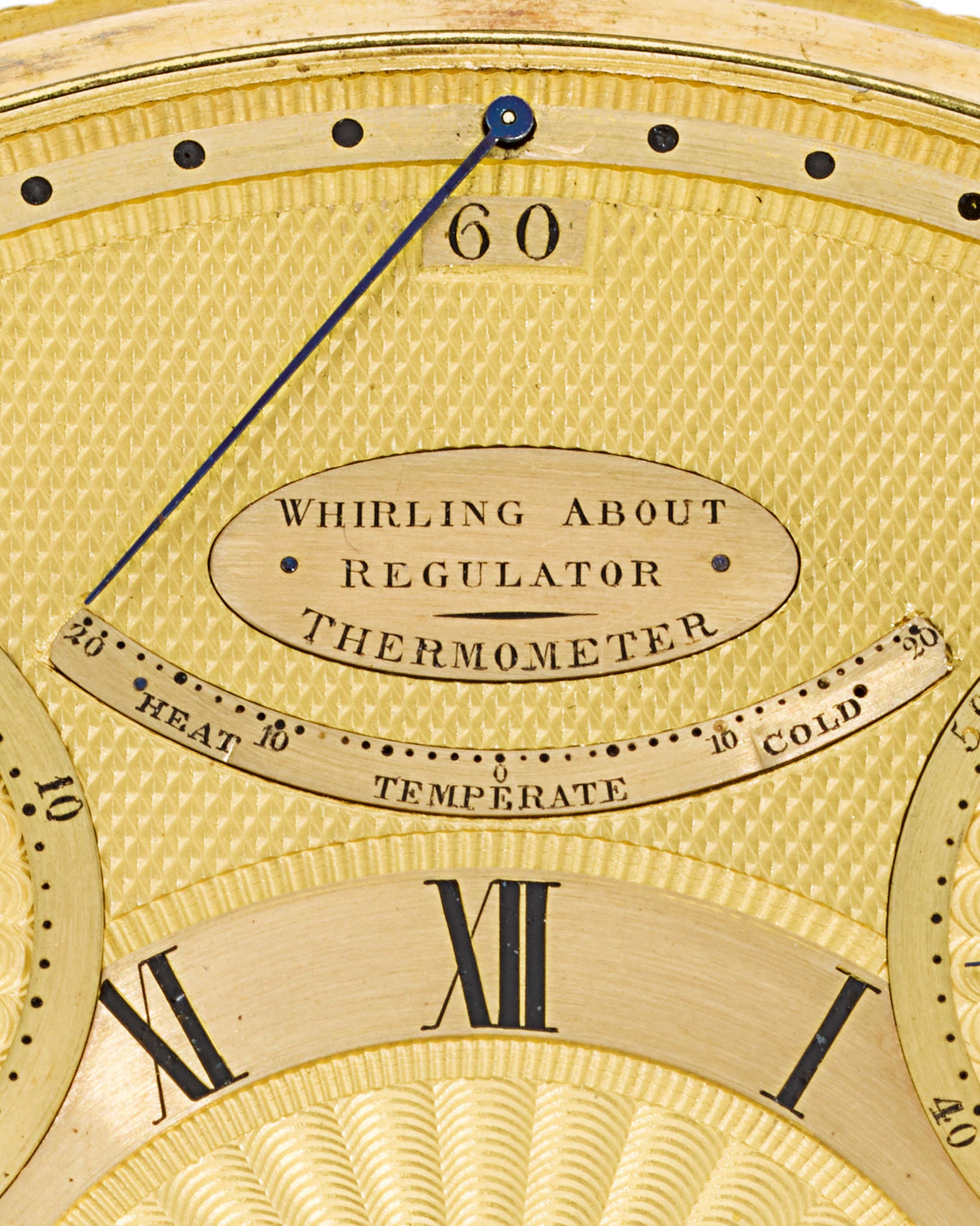 Breguet's translation of the word tourbillon on the dial of King George III's watch