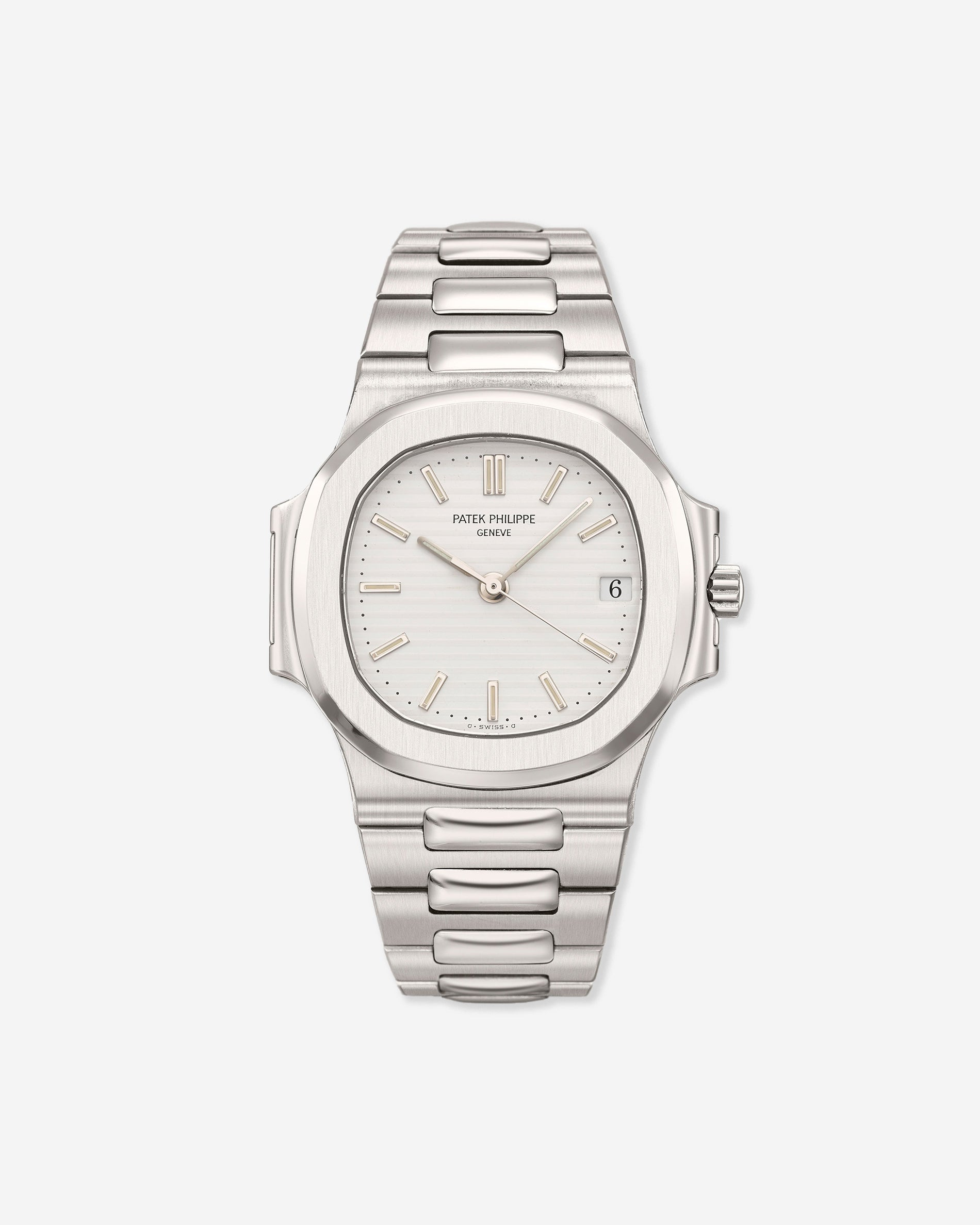 Patek Philippe Nautilus 3800 white ridged dial from A Collected Man London