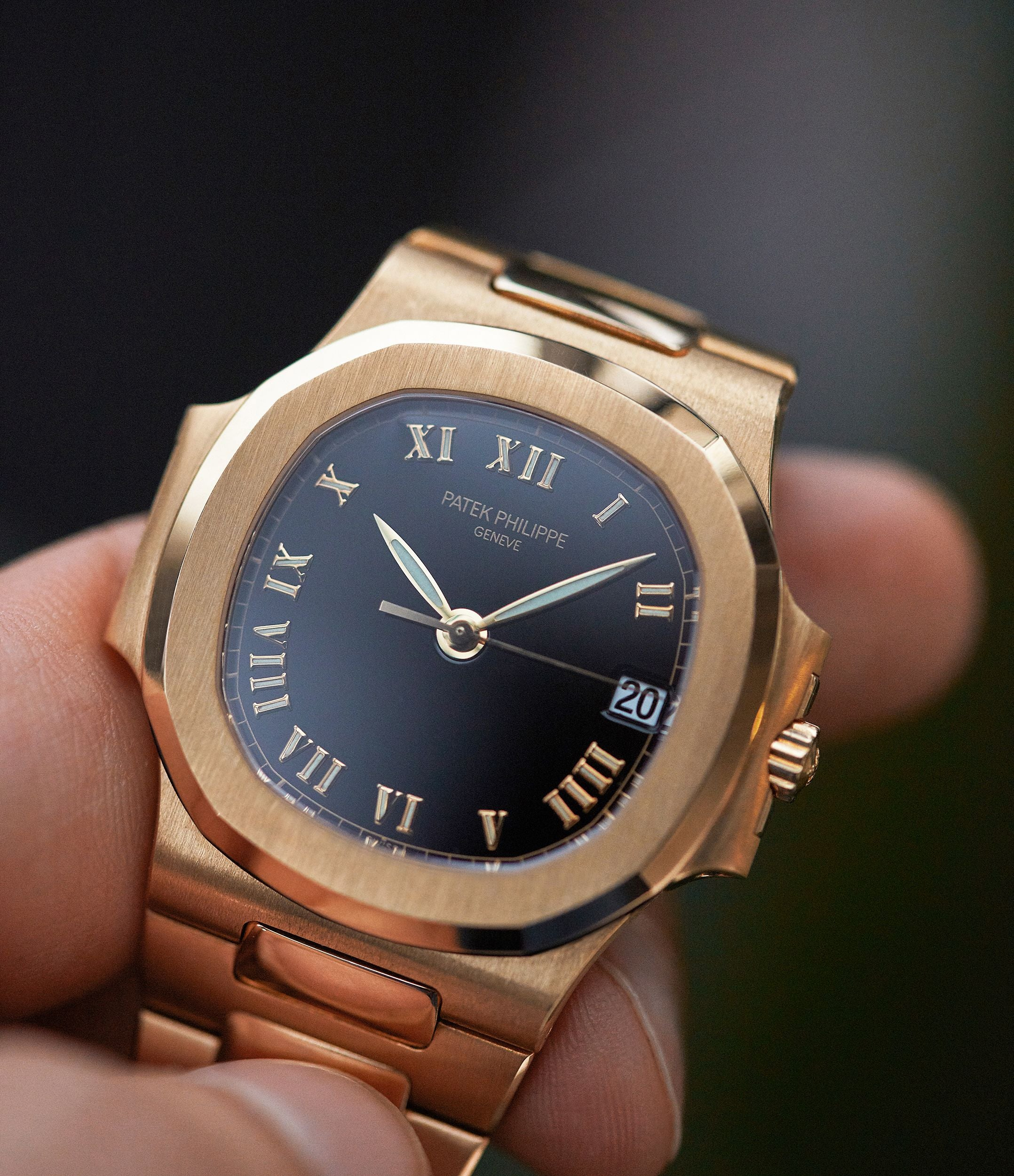 Patek Philippe Nautilus 3800 in yellow gold with a Roman dial from A Collected Man London