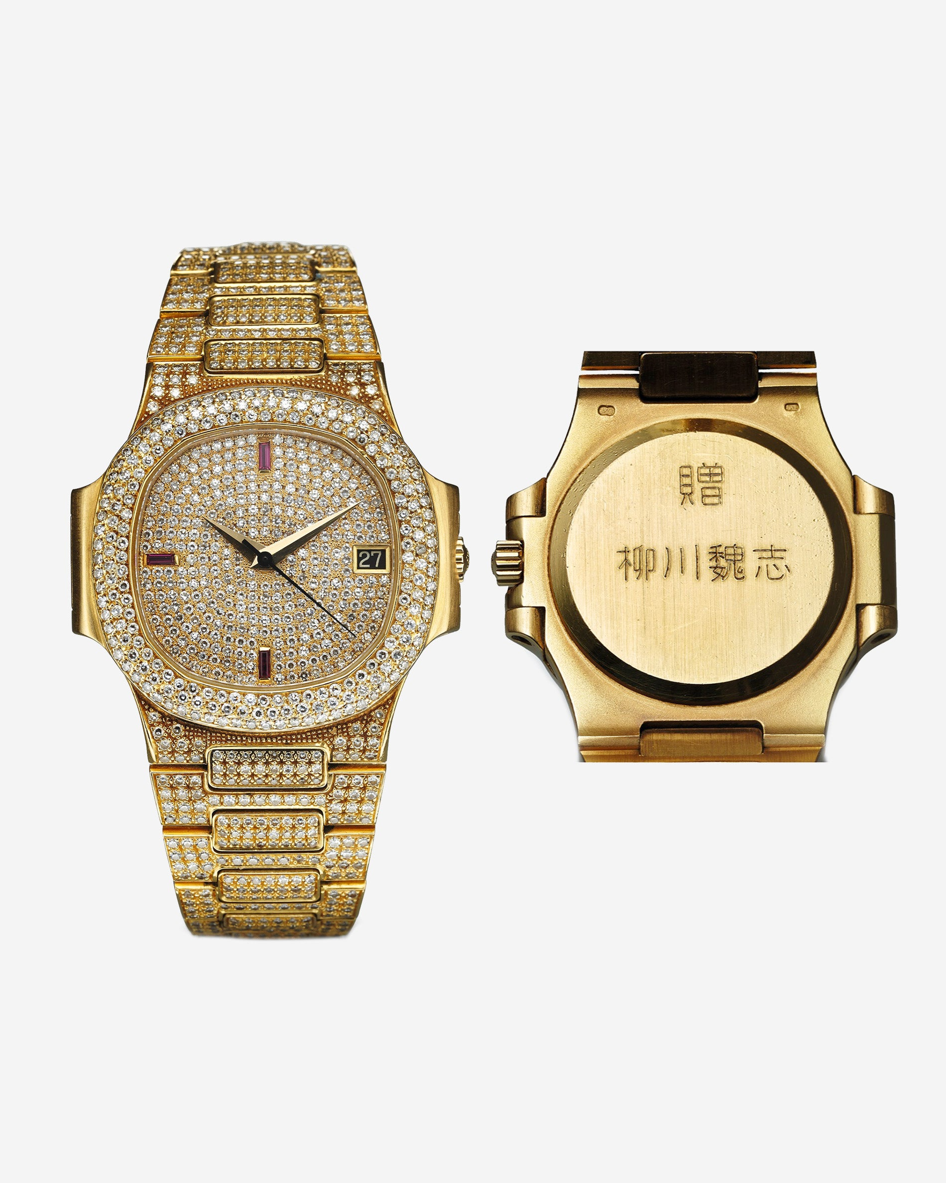 Patek Philippe Nautilus 3800 in yellow gold and diamonds once owned by a Yakuza boss for A Collected Man London
