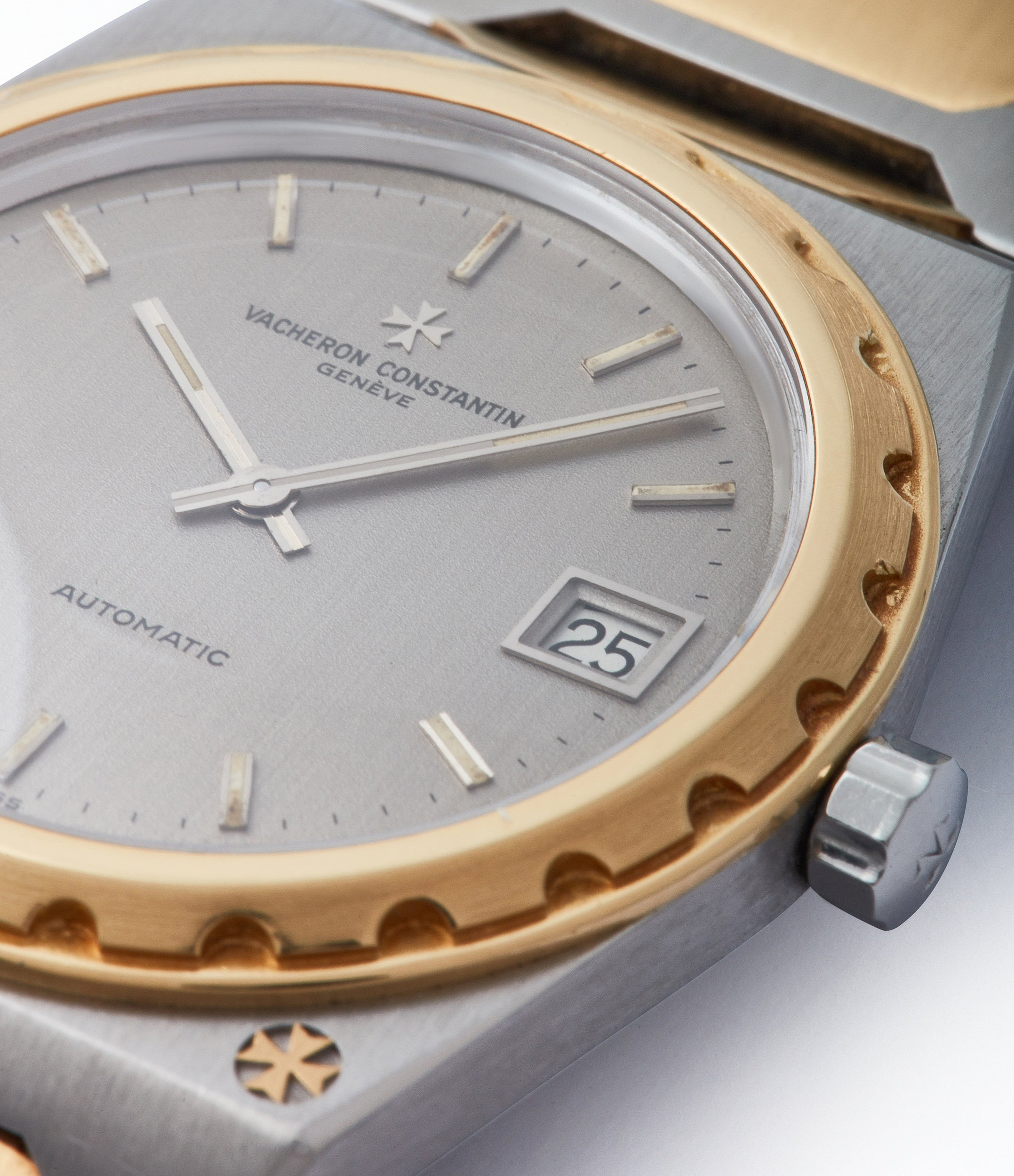 grey dial Vacheron Constantin Jumbo 222 two-tone bicolour steel gold sports watch for sale online A Collected Man London UK specialist of rare watches