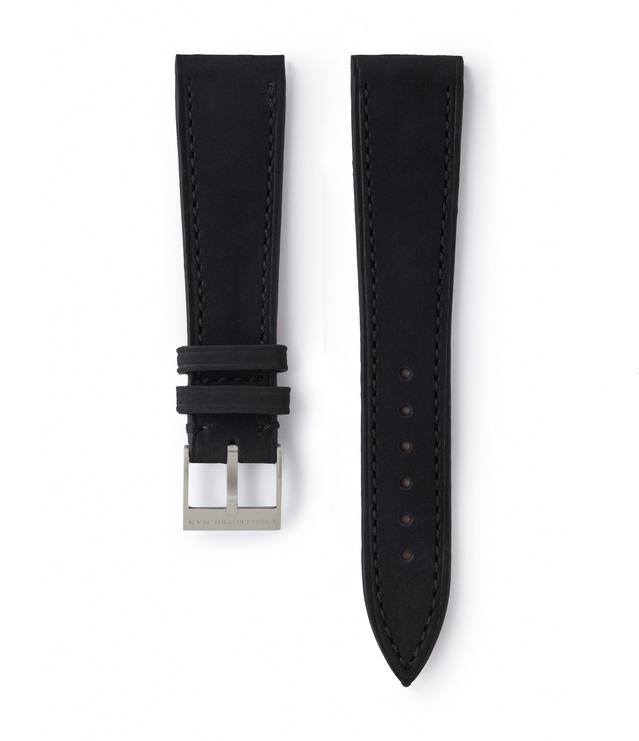 buy black nubuck leather watch strap Sofia Molequin for sale order online at A Collected Man London