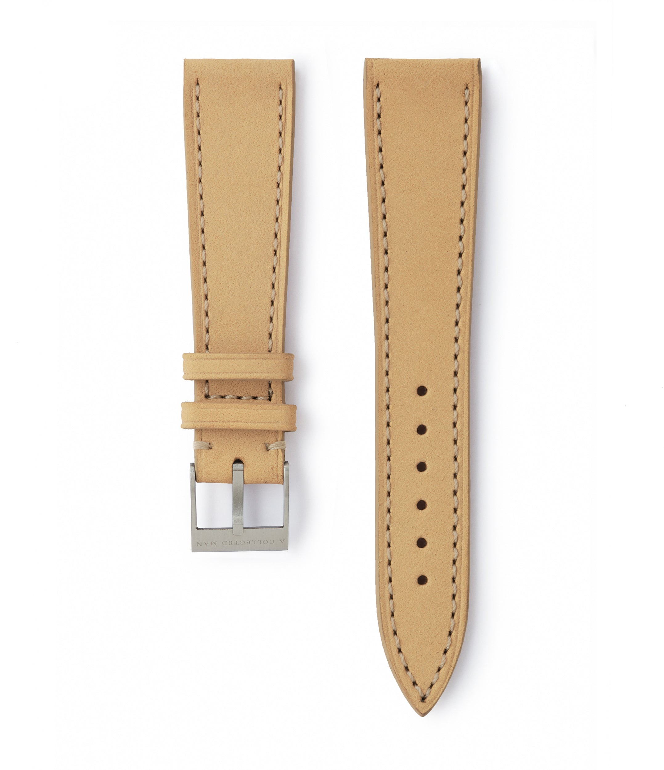 buy light sand nubuck leather watch strap Capri Molequin for sale order online at A Collected Man London
