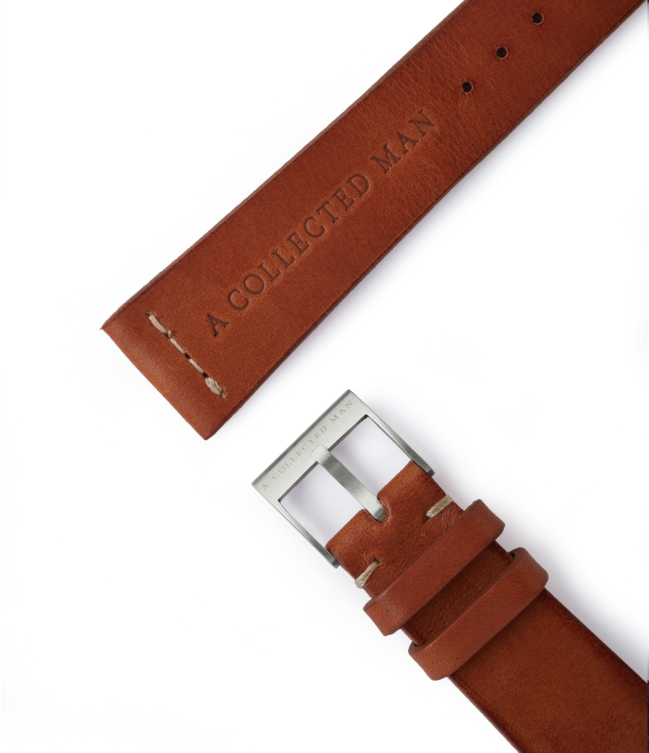 order vintage leather watch strap 18mm Siena JPM for sale order online at A Collected Man London
