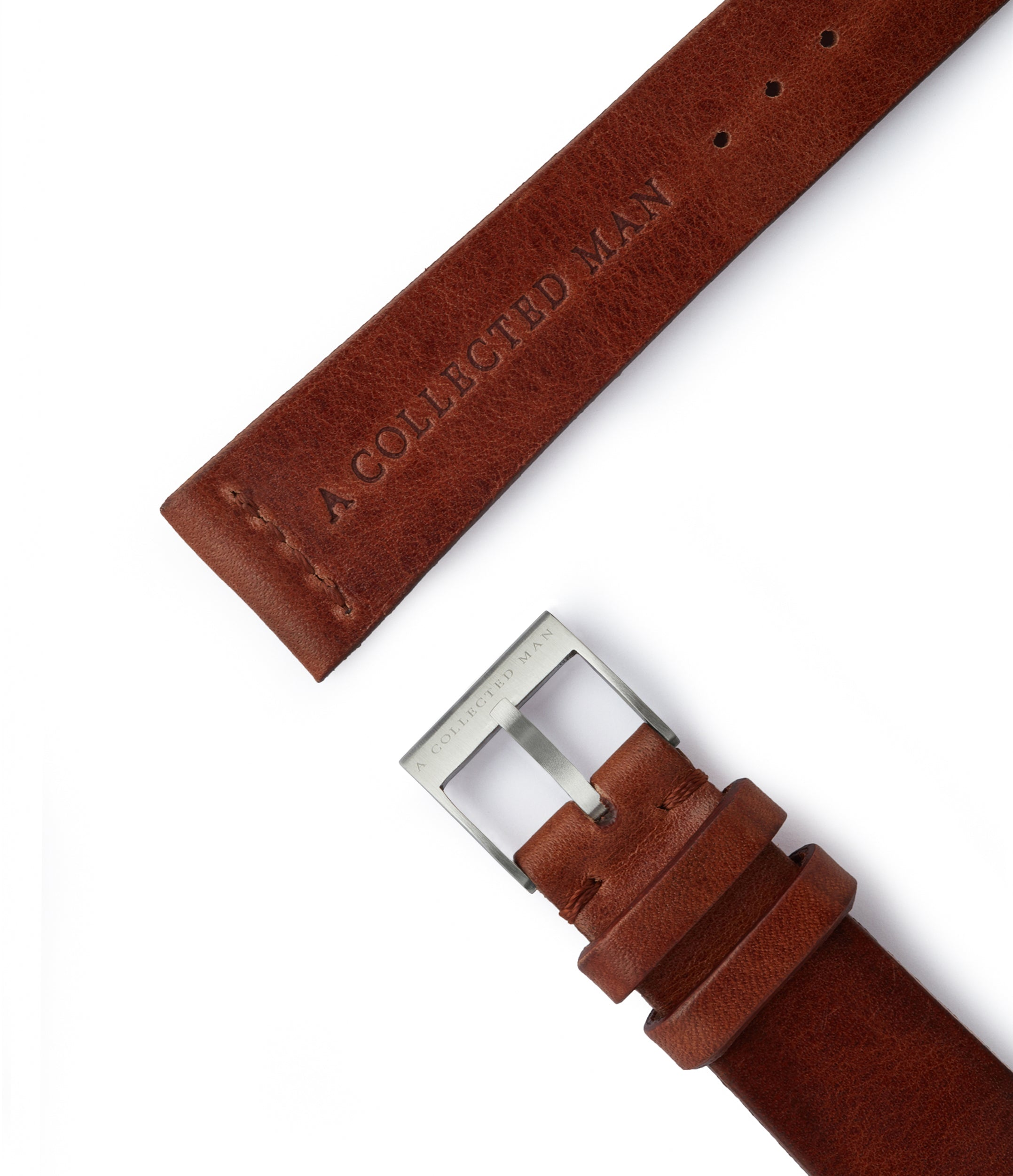 order vintage dark brown leather watch strap Amalfi JPM for sale order online at A Collected Man London