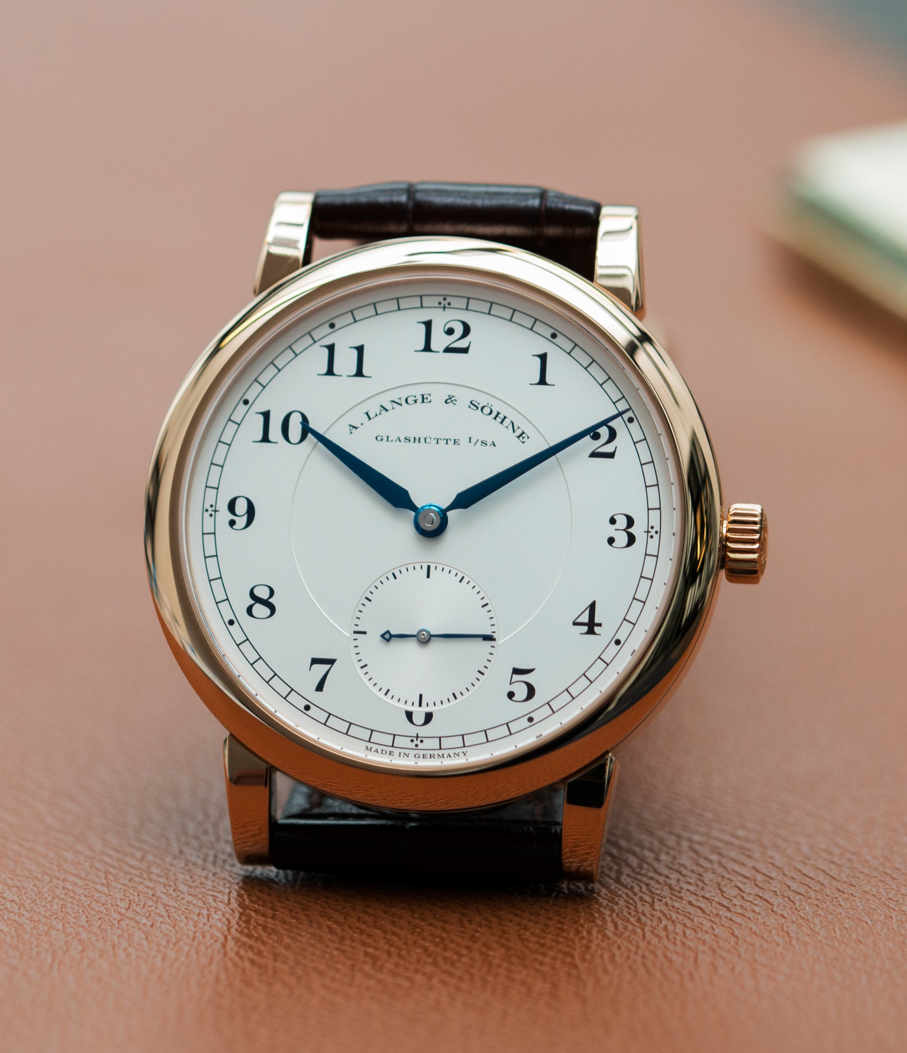 selling A. Lange & Sohne 1815 233.032 rose gold pre-owned dress watch for sale online at A Collected Man London Uk specialist of preowned luxury watches