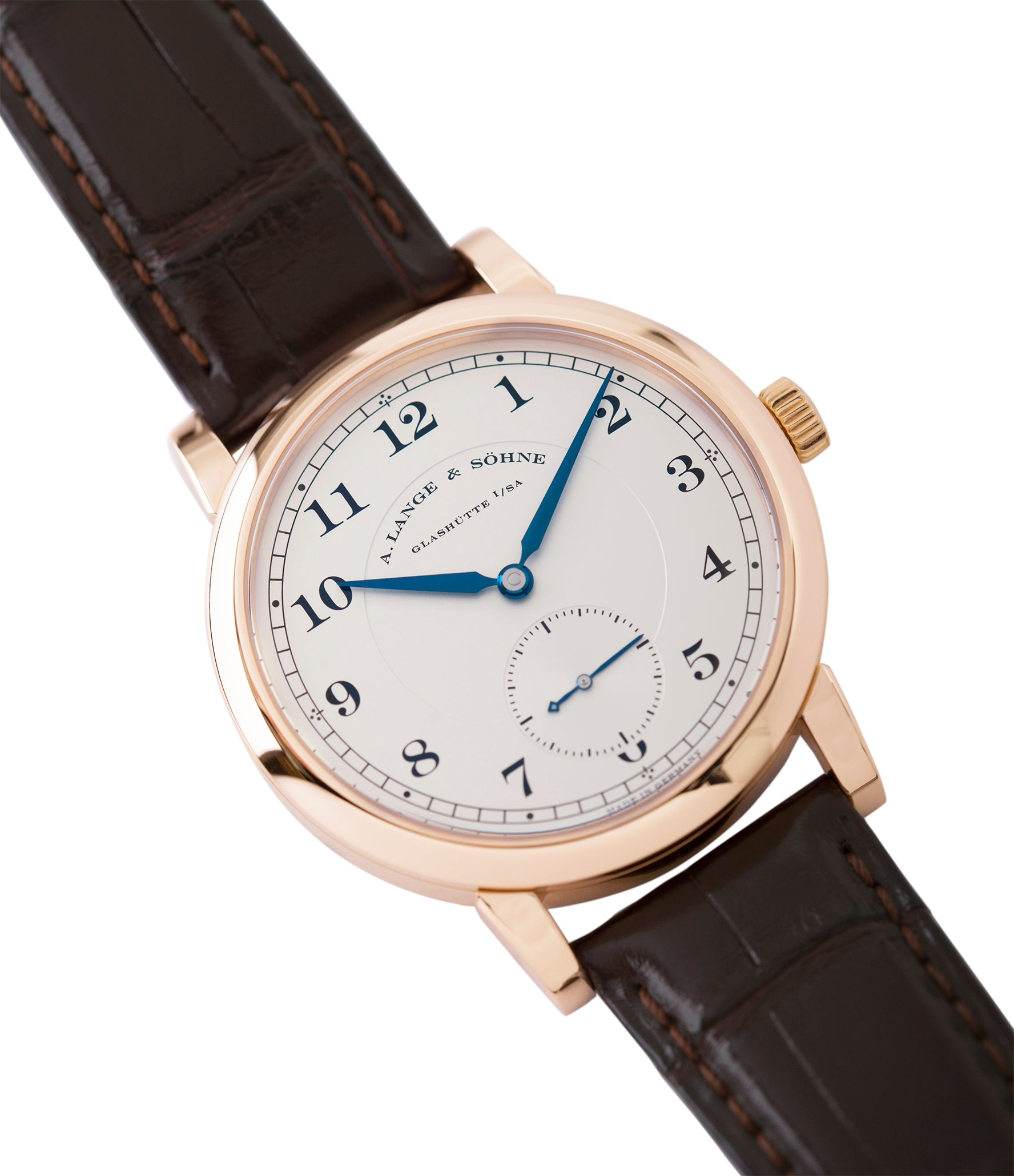shop A. Lange & Sohne 1815 233.032 rose gold pre-owned dress watch for sale online at A Collected Man London Uk specialist of preowned luxury watches