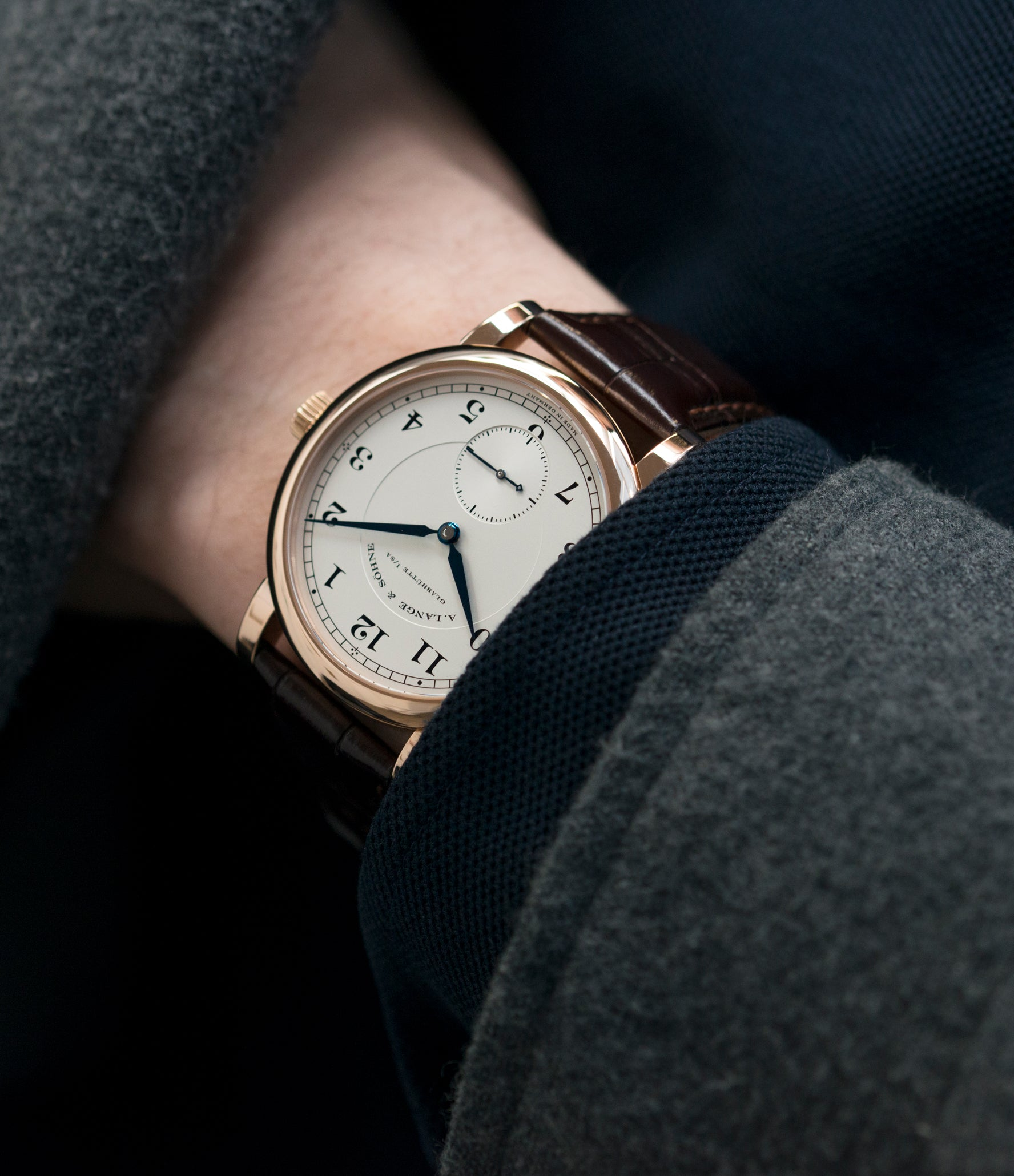 classic A. Lange & Sohne 1815 233.032 rose gold dress watch for sale online at A Collected Man London Uk specialist of preowned luxury watches