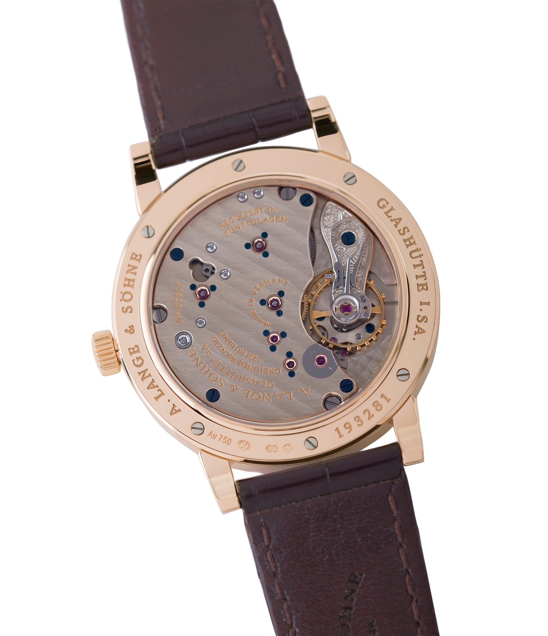 Cal L051.1 A. Lange & Sohne 1815 233.032 rose gold dress watch for sale online at A Collected Man London Uk specialist of preowned luxury watches