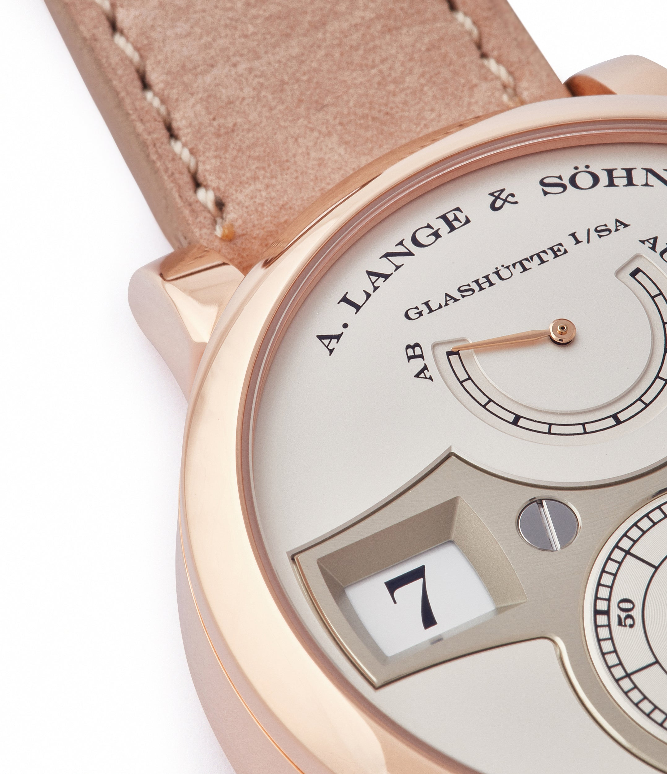 jumping numerals digital display A. Lange & Söhne Zeitwerk  140.032 panorama date dress watch for sale online at A Collected Man London home of rare watches