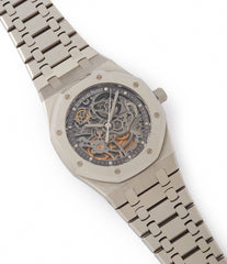 sell Audemars Piguet Royal Oak skeletonised 15305ST steel watch for sale online at A Collected Man London UK specialist of rare watches