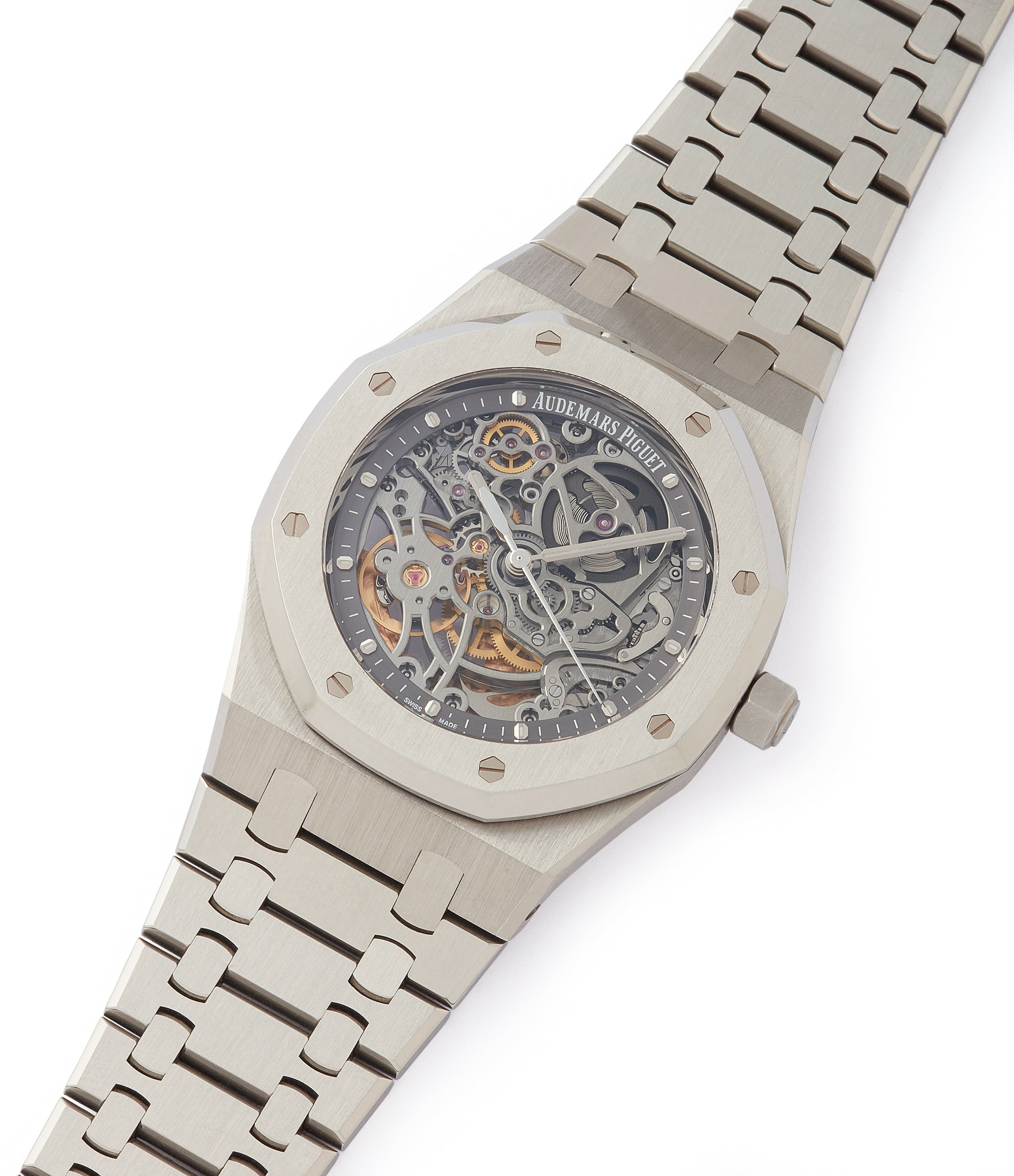 selling Audemars Piguet Royal Oak skeletonised 15305ST steel watch for sale online at A Collected Man London UK specialist of rare watches