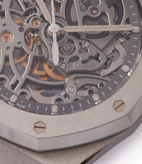 Royal Oak Audemars Piguet skeletonised watch for sale online at A Collected Man London UK specialist of rare watches