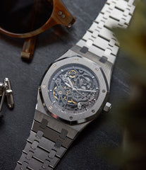 Royal Oak Audemars Piguet skeletonised 15305ST steel watch for sale online at A Collected Man London UK specialist of rare watches
