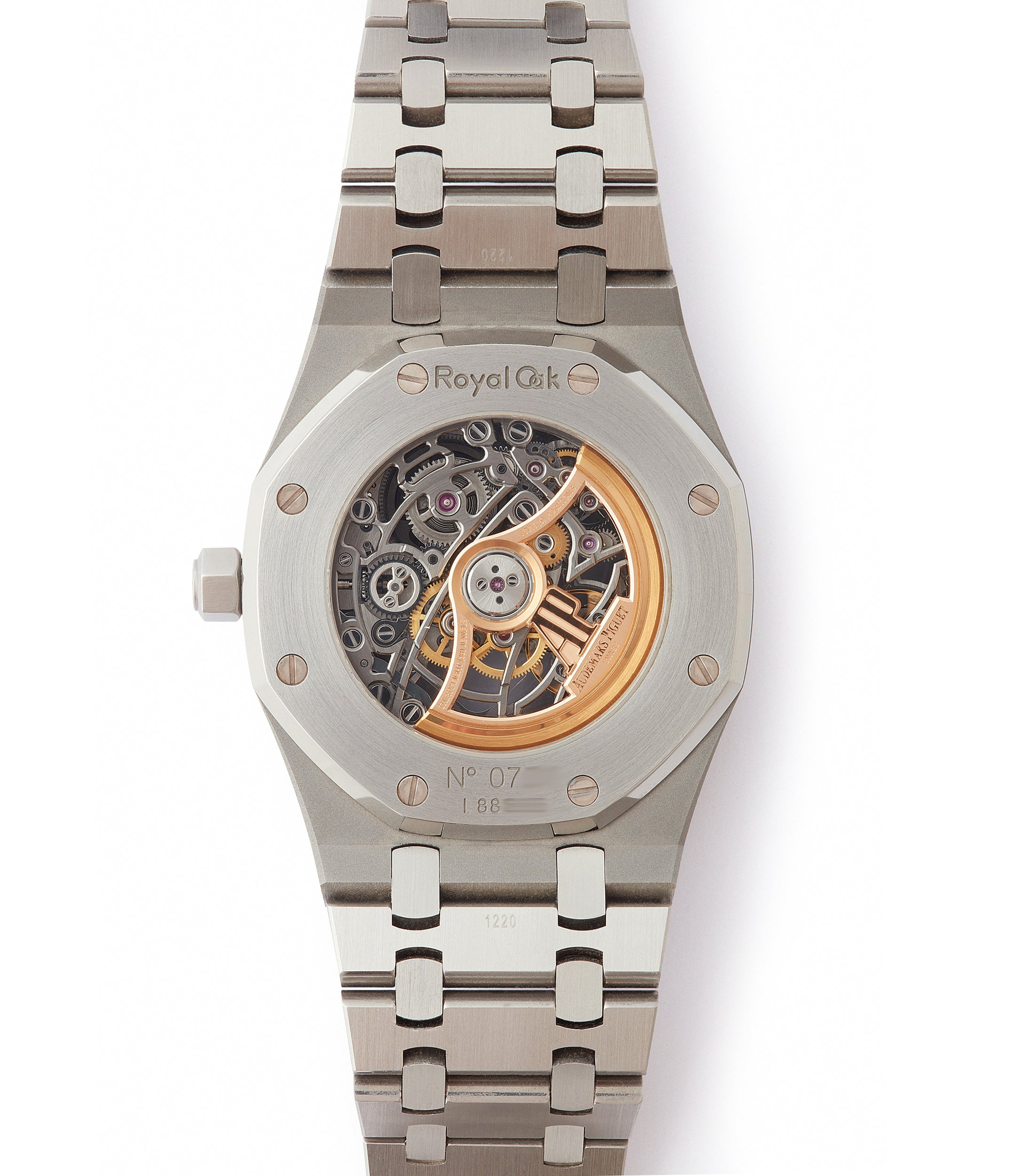 15305ST.OO.1220ST.01 Audemars Piguet Royal Oak skeletonised watch for sale online at A Collected Man London UK specialist of rare watches