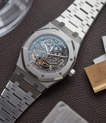 Audemars Piguet Royal Oak skeletonised 15305ST steel watch for sale online at A Collected Man London UK specialist of rare watches