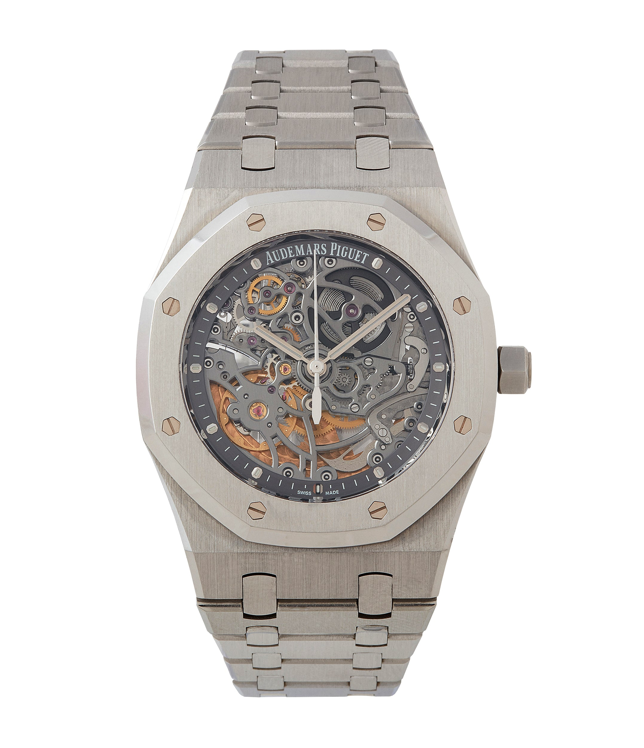 buy Audemars Piguet Royal Oak skeletonised 15305ST steel watch for sale online at A Collected Man London UK specialist of rare watches