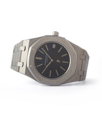 side-shot rare Audemars Piguet Royal Oak A-series 5402 steel sport watch for sale online at A Collected Man London UK specialist of rare watches