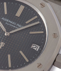 Gerald Genta-designed vintage Audemars Piguet Royal Oak A-series 5402 steel sport watch for sale online at A Collected Man London UK specialist of rare watches