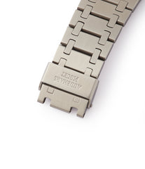 AP-stamped A series bracelet vintage Audemars Piguet Royal Oak 5402 steel sport watch for sale online at A Collected Man London UK specialist of rare watches