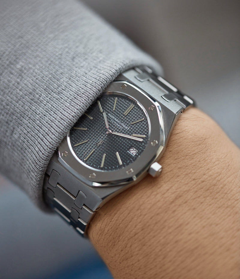 vintage wristwatch Audemars Piguet Royal Oak A-series 5402 steel sport watch for sale online at A Collected Man London UK specialist of rare watches