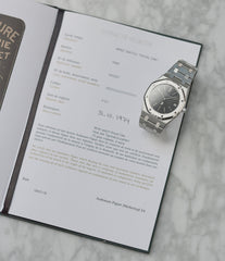 Audemars Piguet archive extract Royal Oak A-series 5402 steel sport watch for sale online at A Collected Man London UK specialist of rare watches