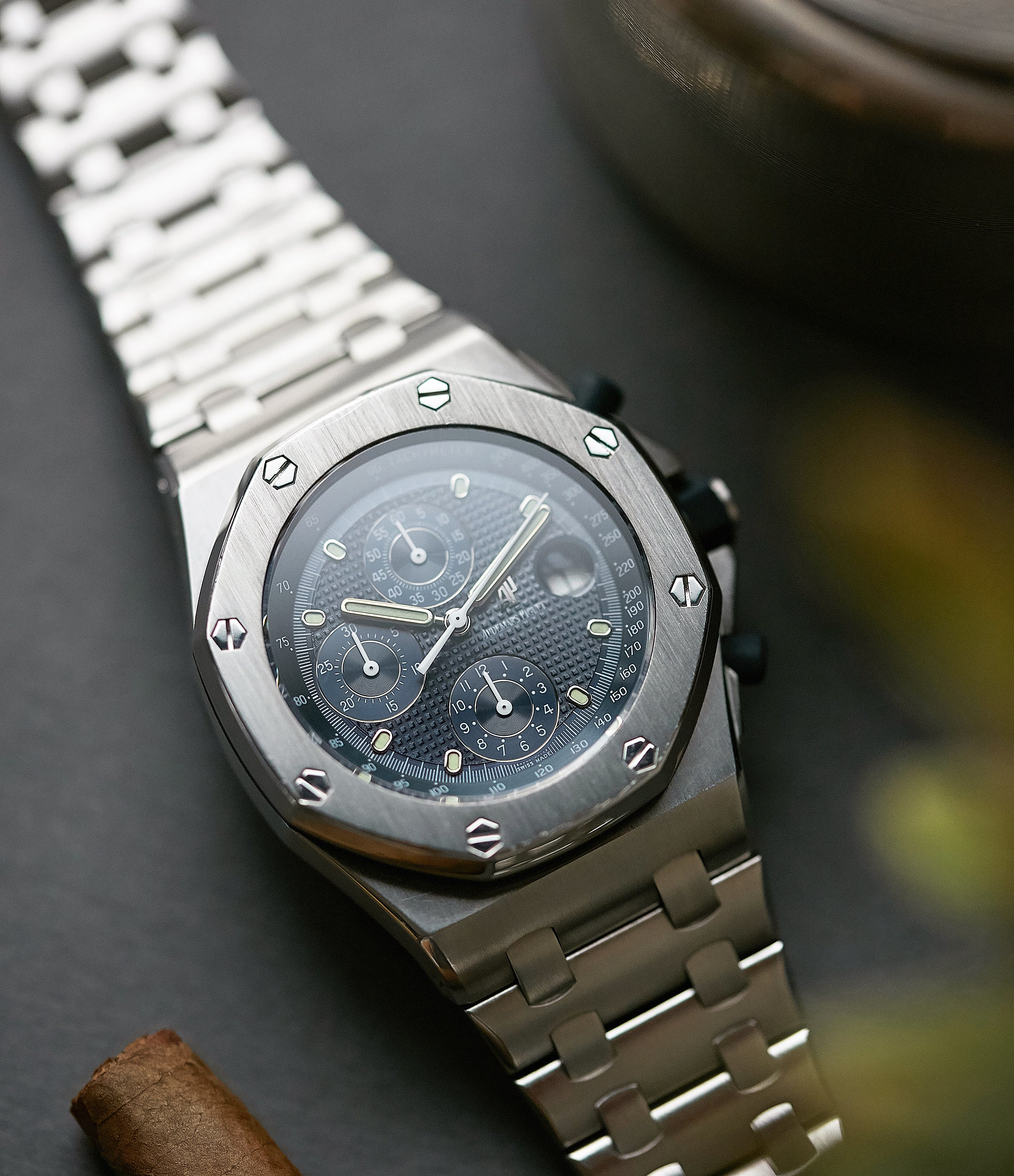 selling Audemars Piguet Royal Oak Offshore 'The Beast' 25721 steel vintage chronograph watch for sale online A Collected Man London UK specialist of rare watches