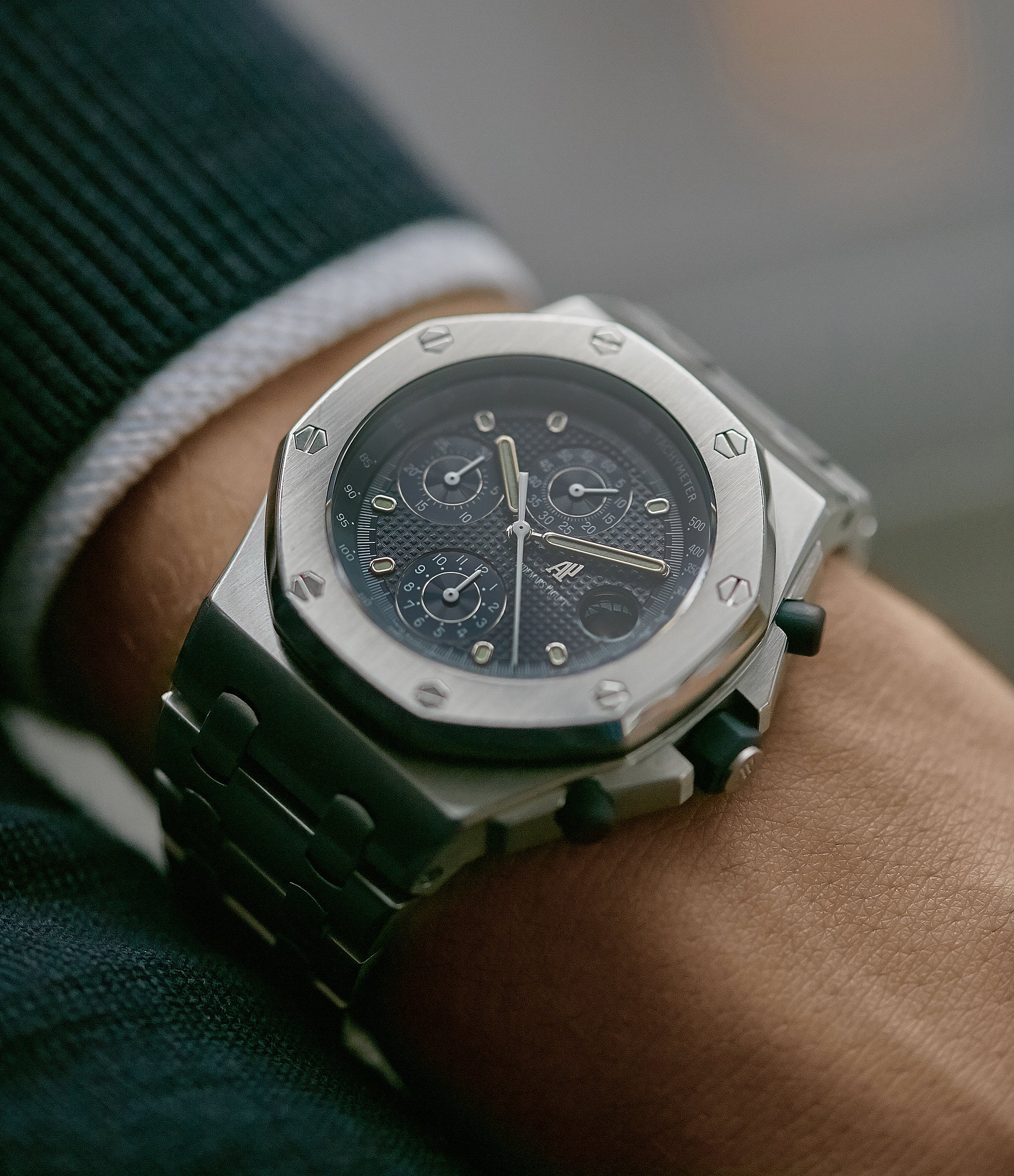 collect Audemars Piguet Royal Oak Offshore 'The Beast' 25721 steel vintage chronograph watch for sale online A Collected Man London UK specialist of rare watches