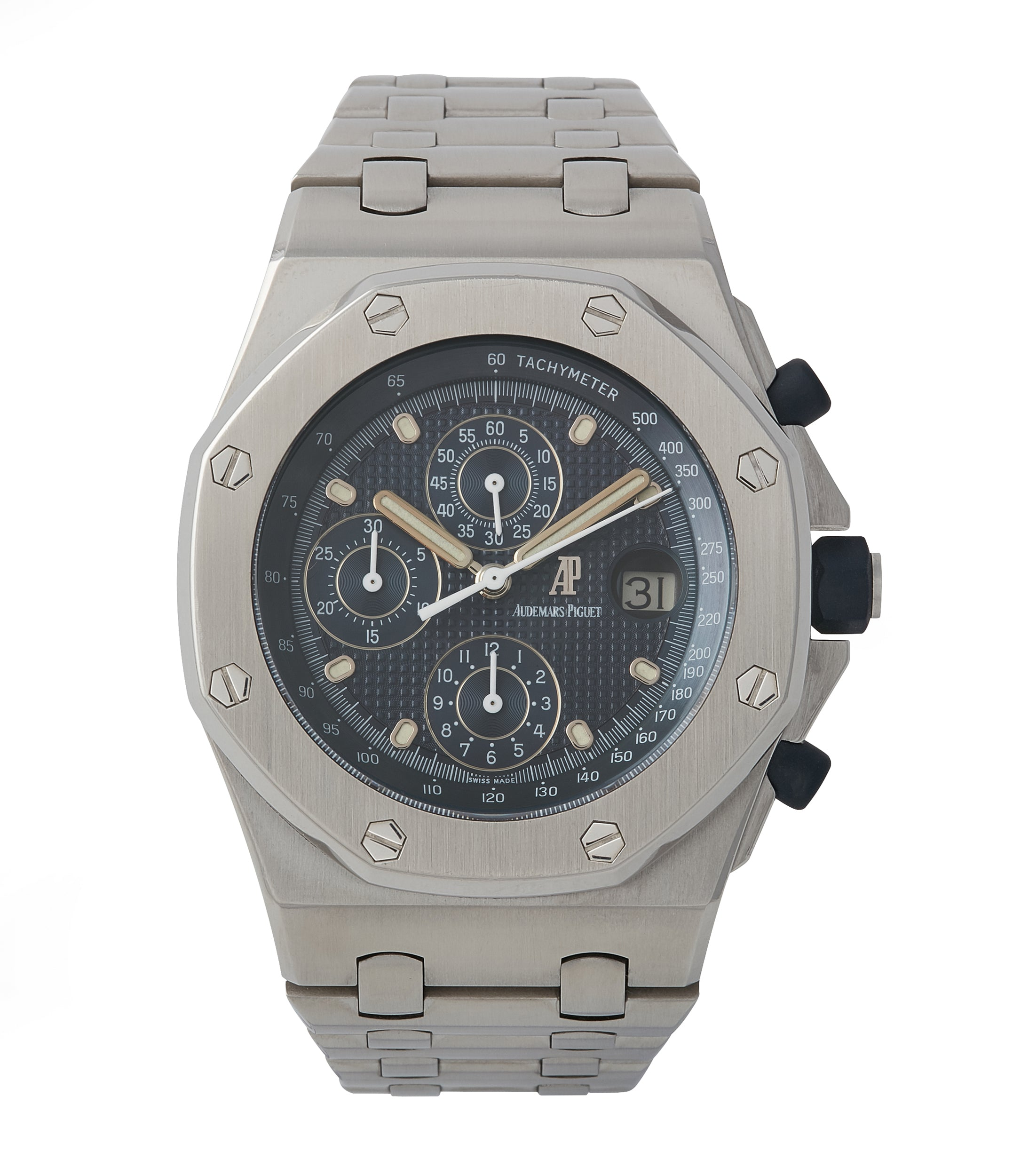 buy Audemars Piguet Royal Oak Offshore 'The Beast' 25721 steel vintage chronograph watch for sale online A Collected Man London UK specialist of rare watches