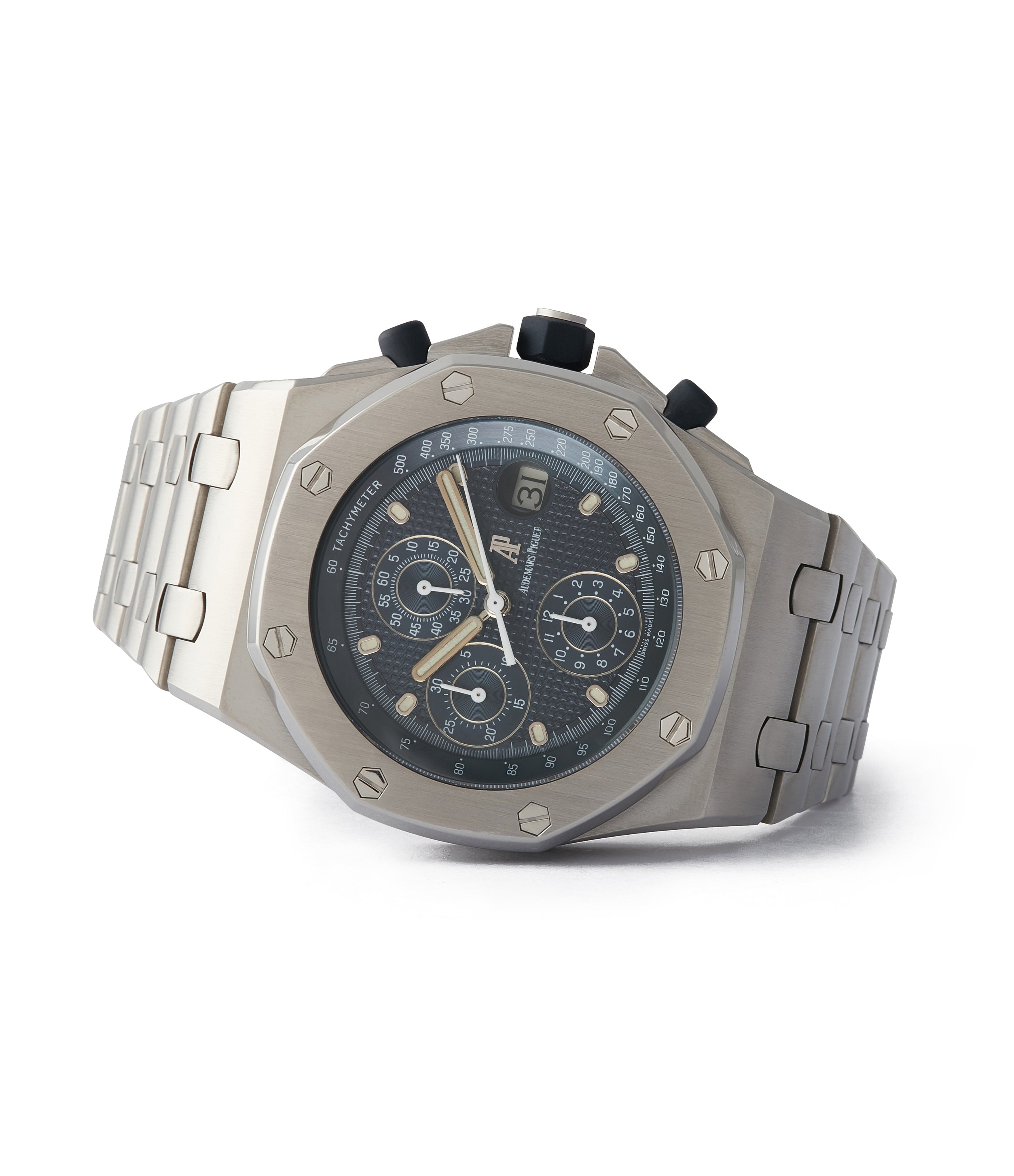 consign Audemars Piguet Royal Oak Offshore 'The Beast' 25721 steel vintage chronograph watch for sale online A Collected Man London UK specialist of rare watches
