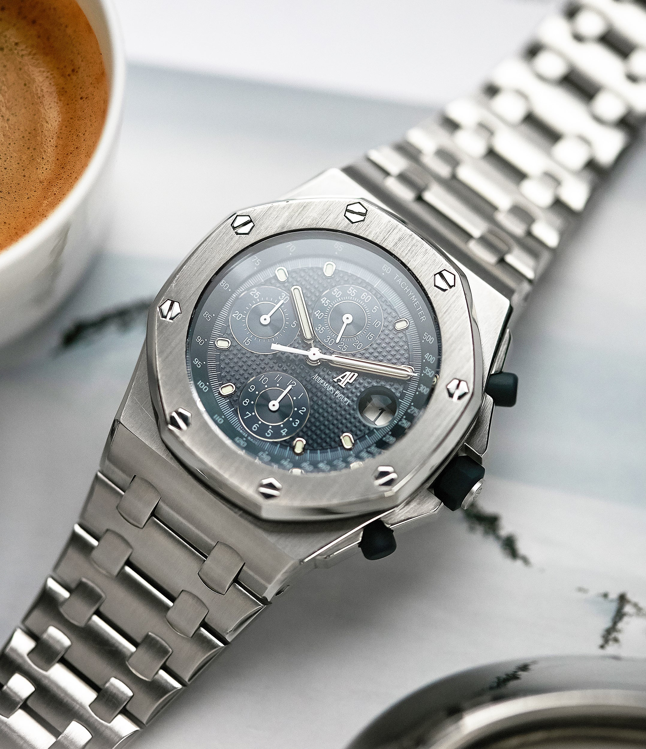 shop pre-owned Audemars Piguet Royal Oak Offshore 'The Beast' 25721 steel vintage chronograph watch for sale online A Collected Man London UK specialist of rare watches
