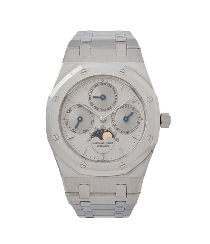 buy Audemars Piguet Royal Oak Perpetual Calendar 25654ST steel vintage watch for sale online at A Collected Man London UK specialist of rare watches