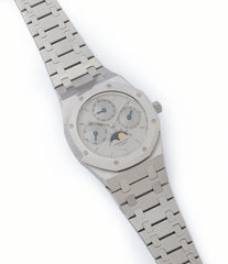buying Audemars Piguet Royal Oak Perpetual Calendar 25654ST steel vintage watch for sale online at A Collected Man London UK specialist of rare watches