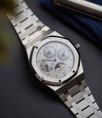 rare Audemars Piguet Royal Oak Perpetual Calendar 25654ST steel vintage watch for sale online at A Collected Man London UK specialist of rare watches