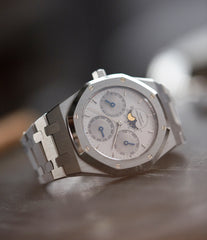 pre-owned Audemars Piguet Royal Oak Perpetual Calendar 25654ST steel vintage watch for sale online at A Collected Man London UK specialist of rare watches