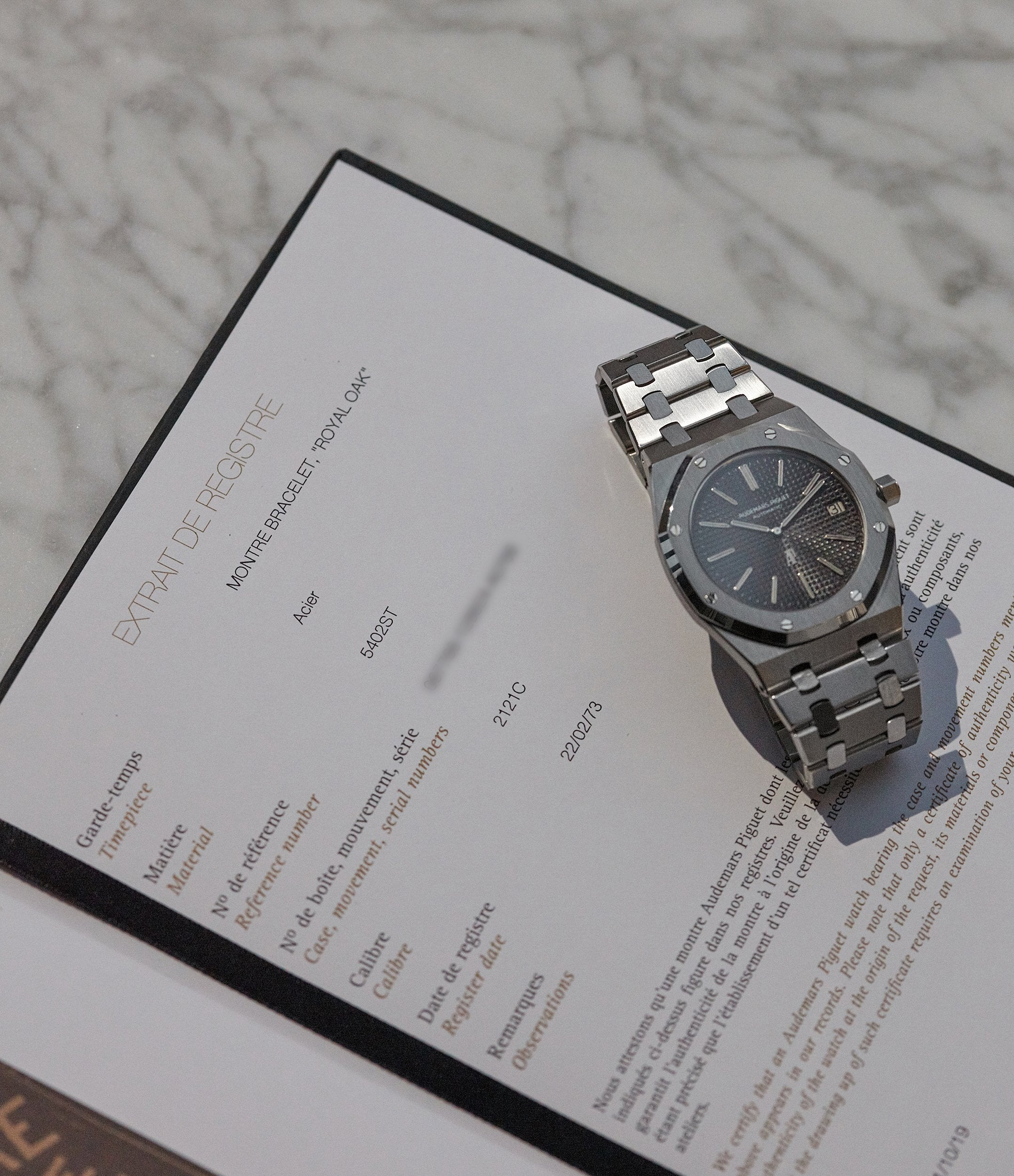 Archive Extracts Audemars Piguet Royal Oak early A-series steel 5402A steel sports luxury watch for sale online A Collected Man London UK specialist rare watches