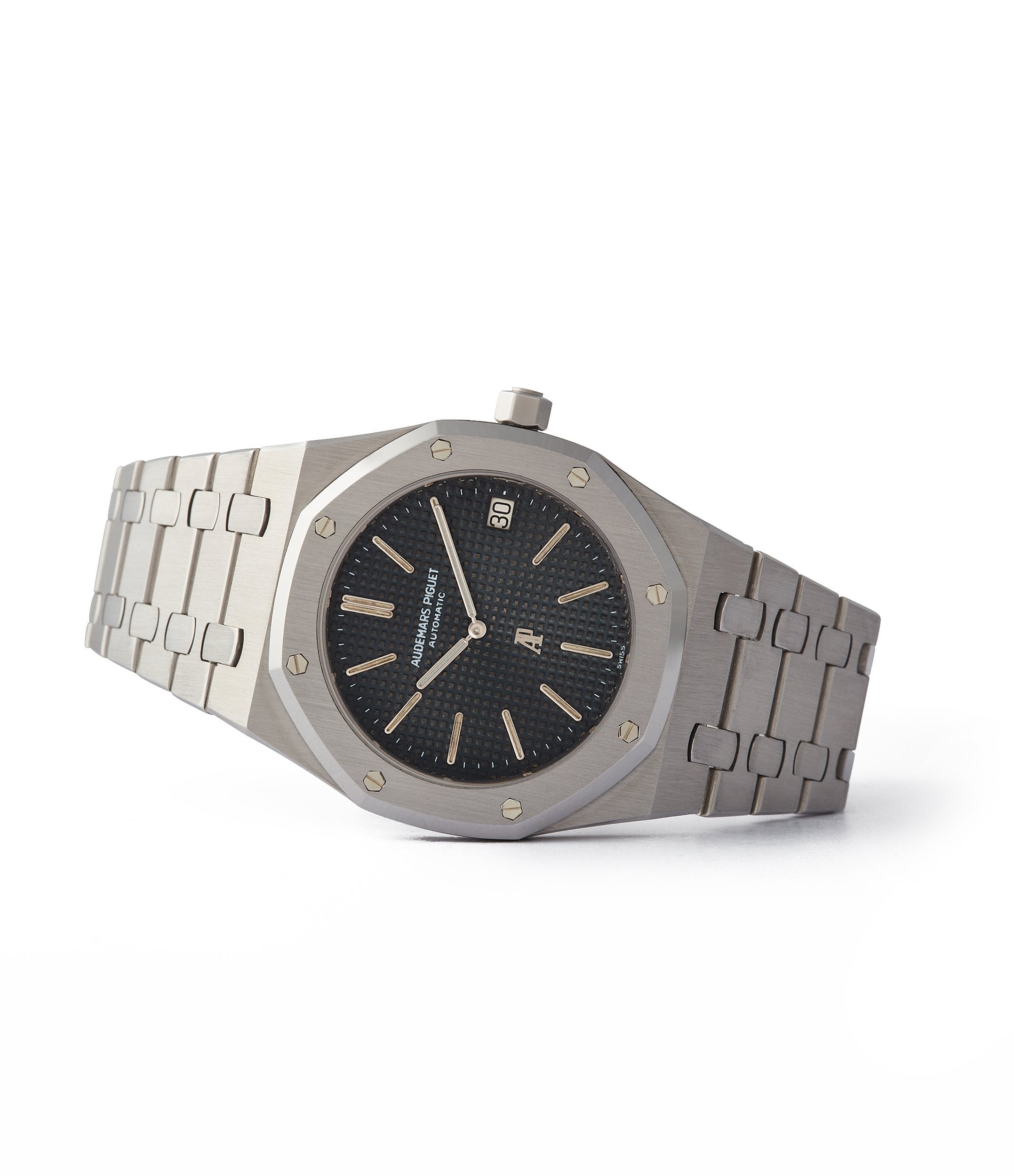side-shot A-series Audemars Piguet Royal Oak early steel 5402A steel sports luxury watch for sale online A Collected Man London UK specialist rare watches