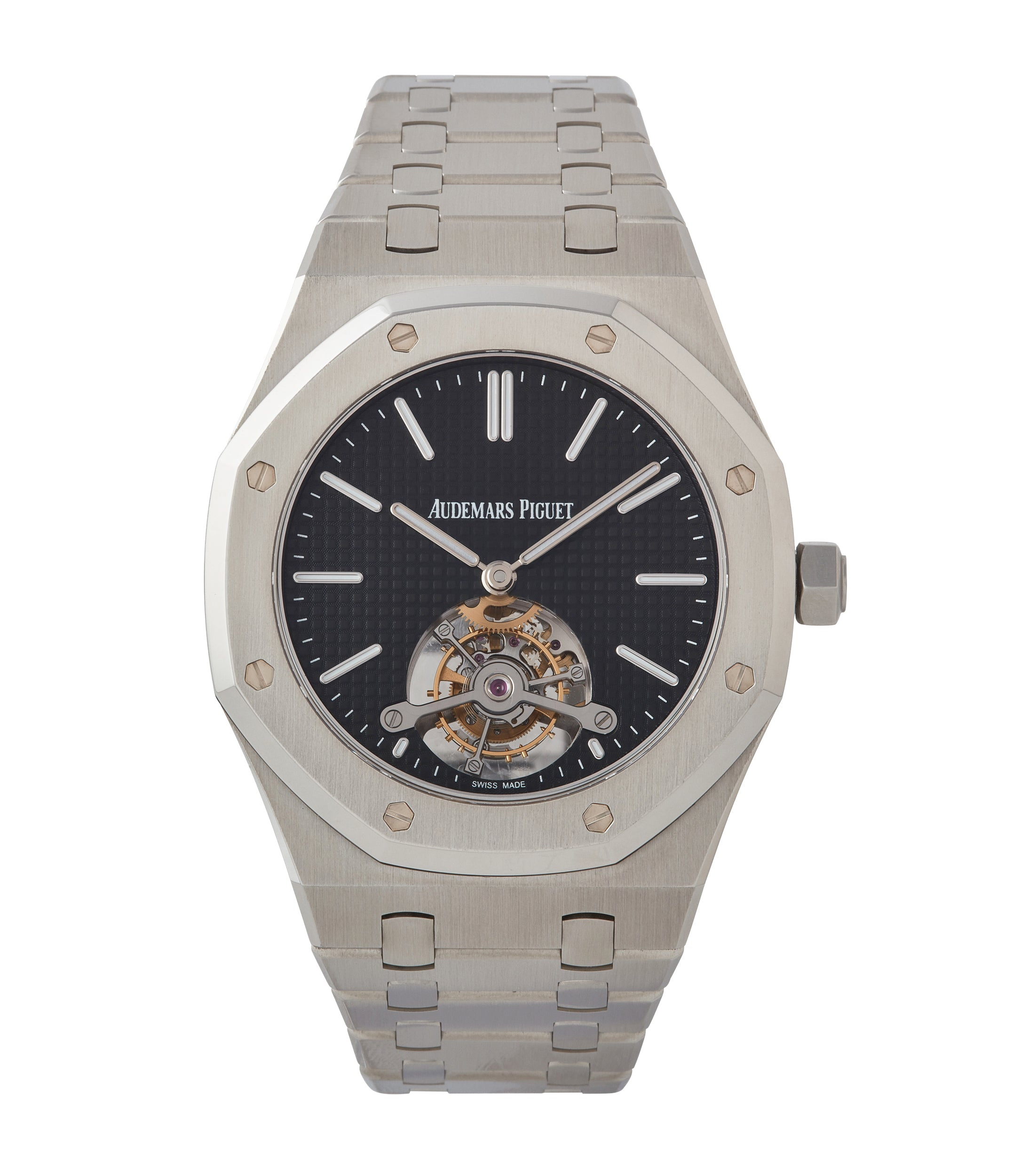 buy Audemars Piguet Royal Oak Tourbillon extra-slim Special Edition Japanese steel pre-owned watch for sale online at A Collected Man London UK specialist of rare watches