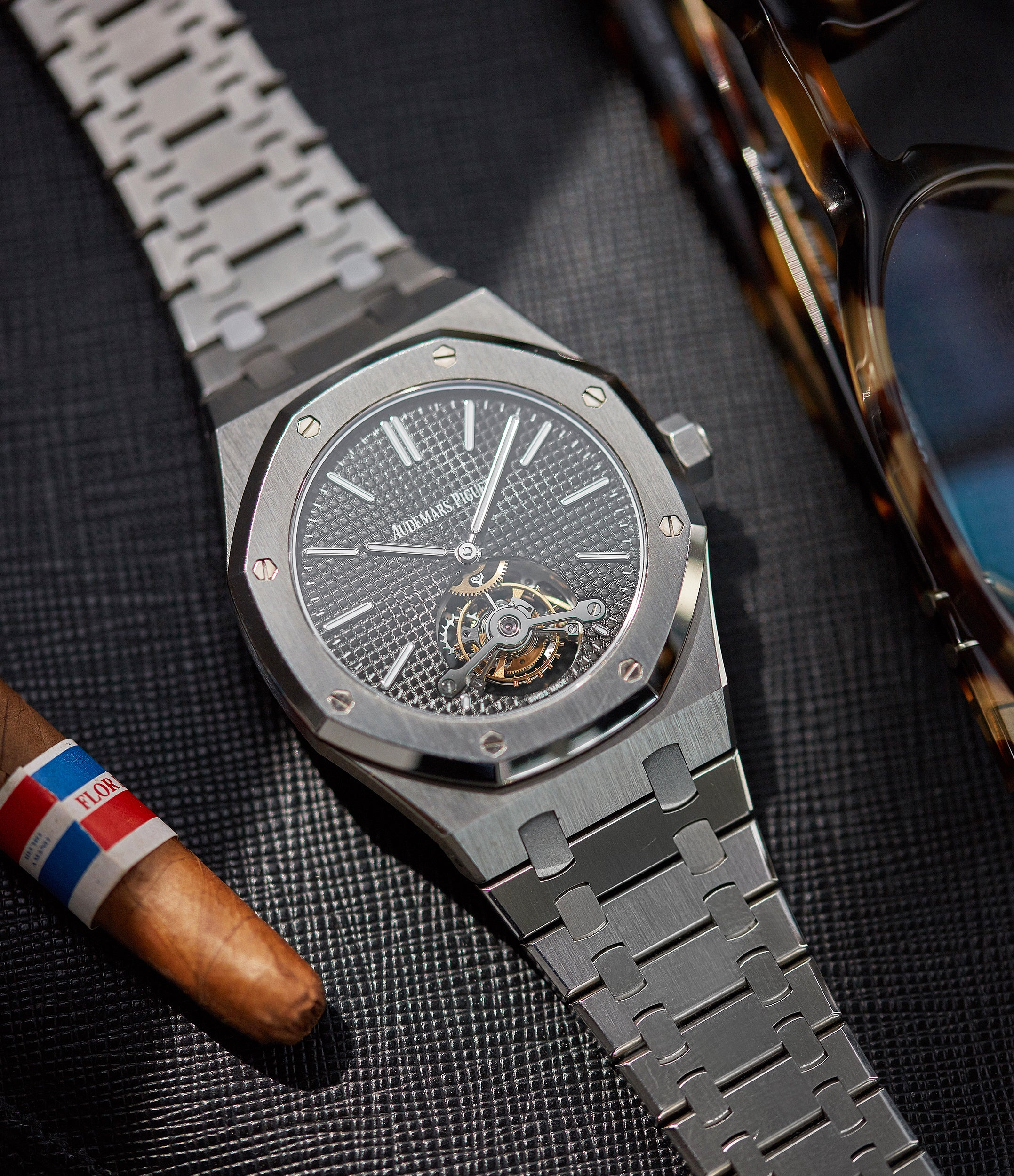 rare Audemars Piguet Royal Oak Tourbillon extra-slim Special Edition Japanese steel pre-owned watch for sale online at A Collected Man London UK specialist of rare watches