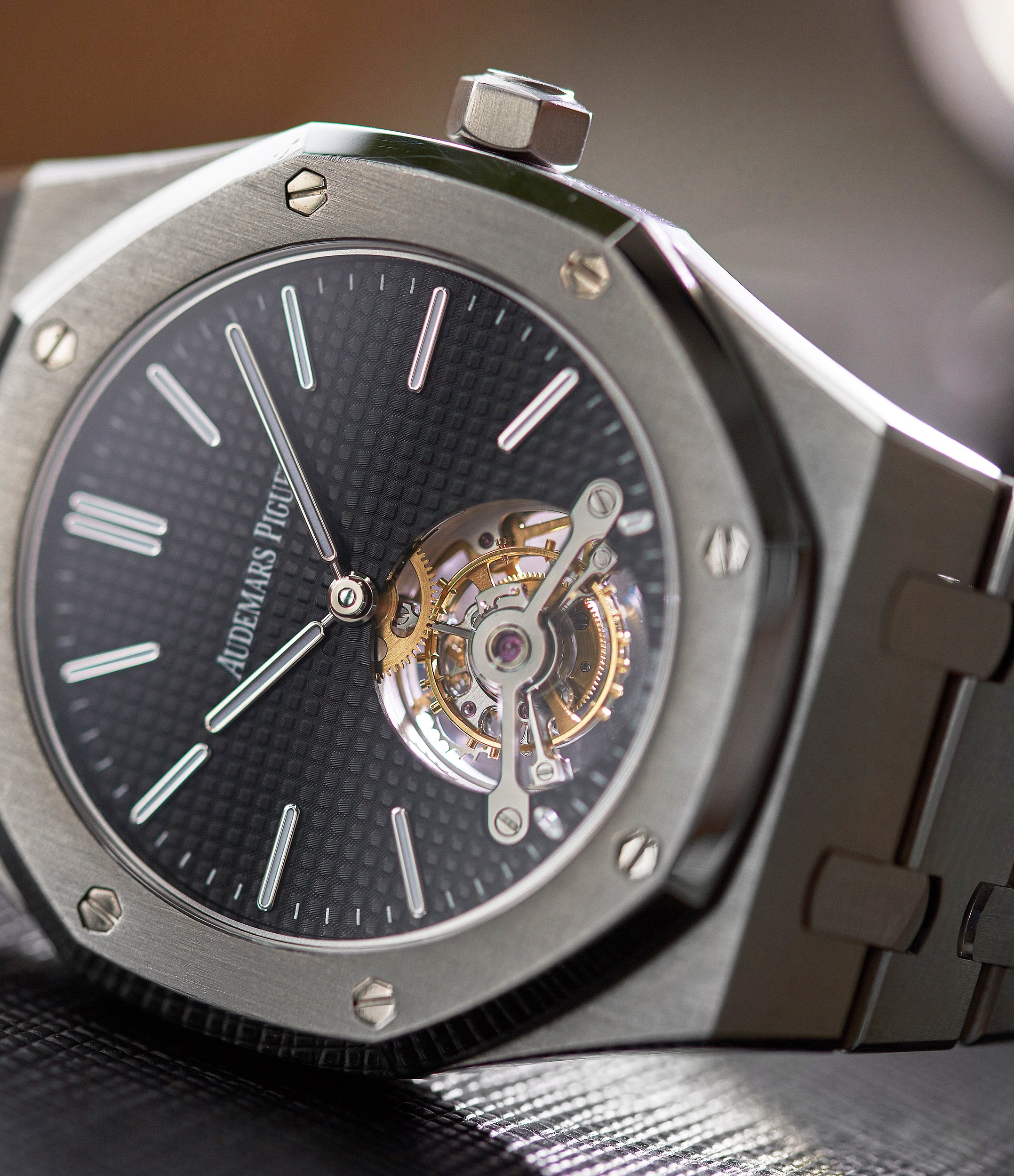 Japanese Limited Edition of 45 Audemars Piguet Royal Oak Tourbillon extra-slim Special Edition Japanese steel pre-owned watch for sale online at A Collected Man London UK specialist of rare watches