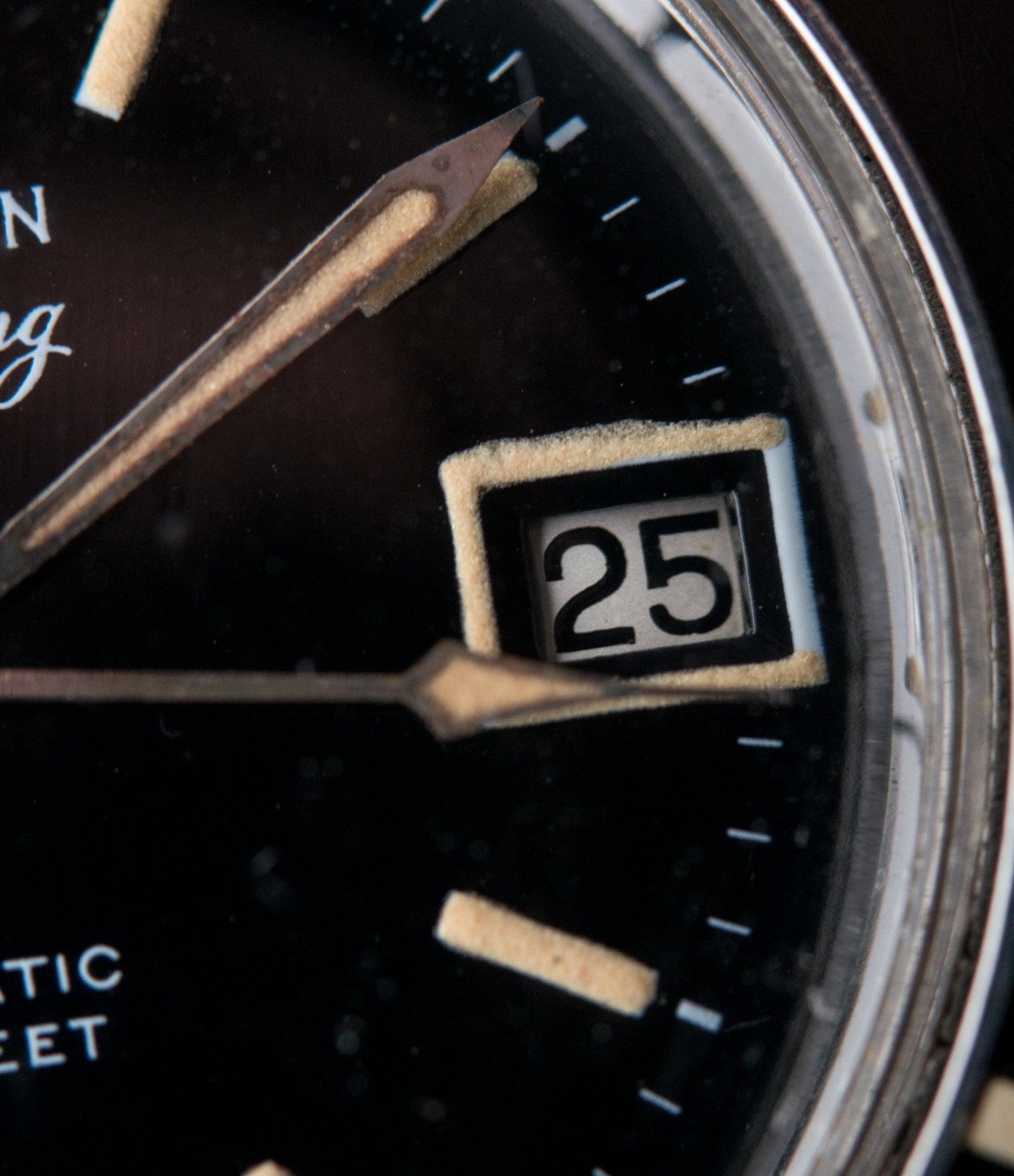 original Blancpain Aqua Lung Gloss Dial Cal. AS 1700/01 vintage sport watch black dial for sale online at A Collected Man London UK specialist rare, vintage watches