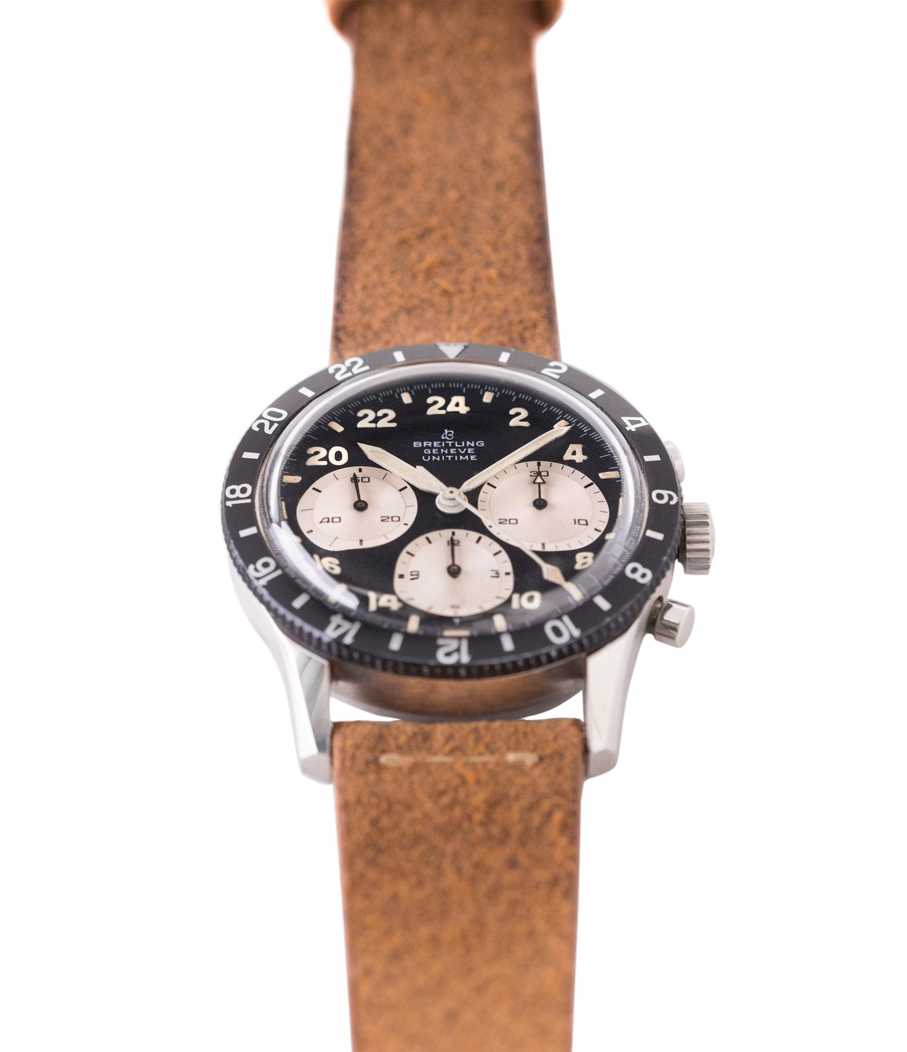 Breitling 1765 Unitime steel vintage Cal. 178 pilot watch for sale online at A Collected Man London UK specialist of rare watches