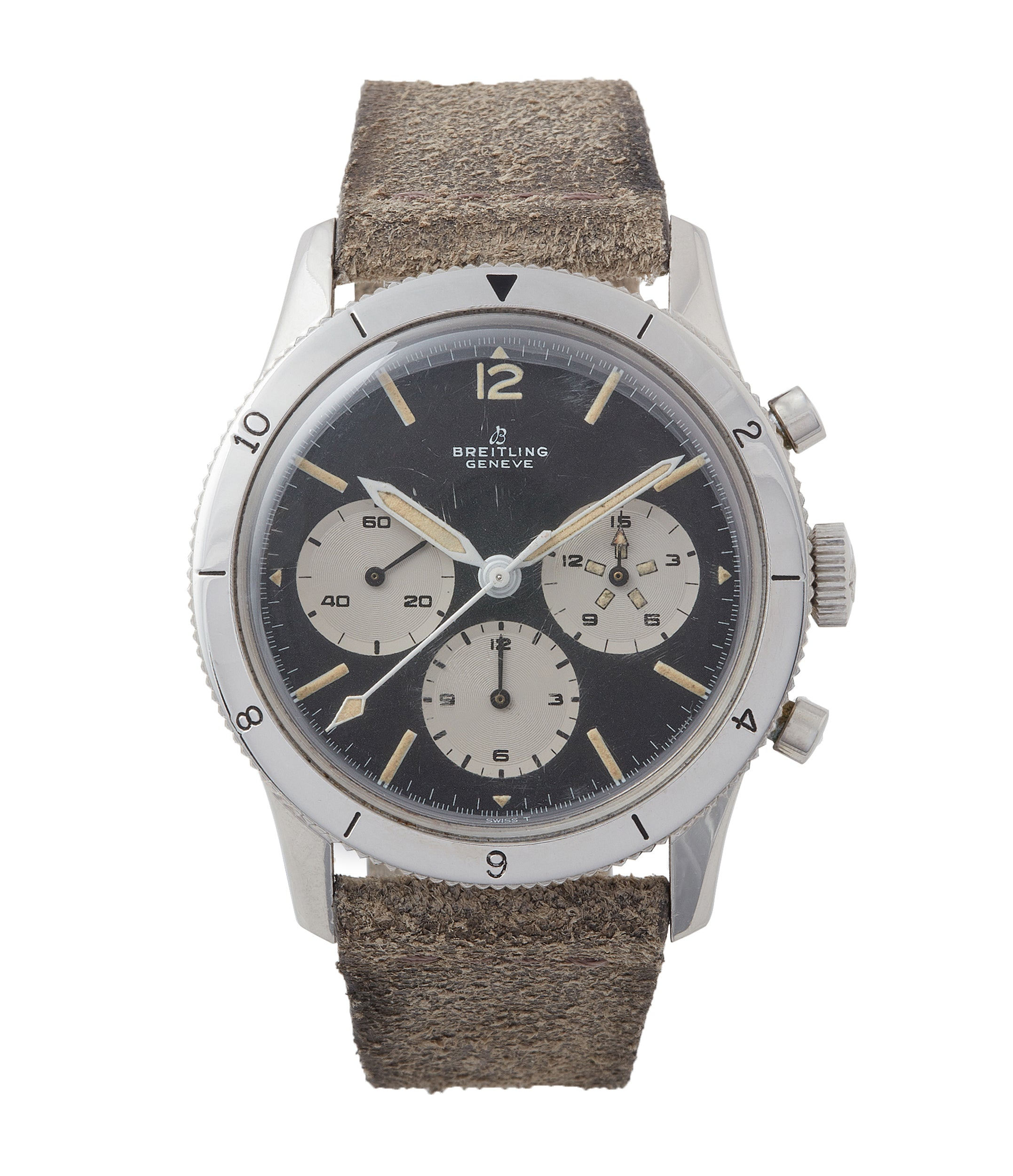 buy vintage Breitling 765 AVI Cal. 178 manual-winding steel chronograph watch for sale online at A Collected Man London UK specialist of rare watches