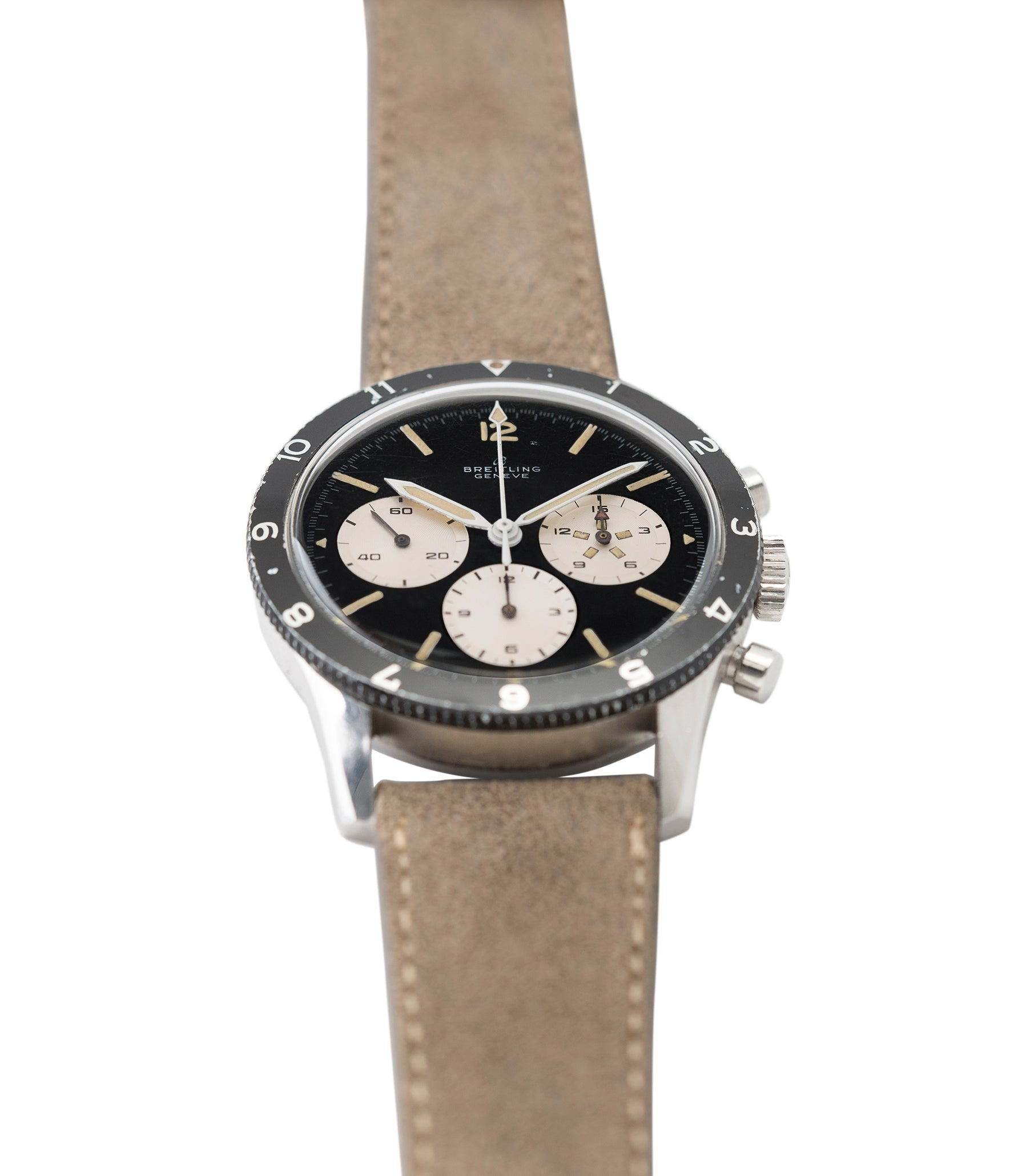 sell Breitling 765 AVI pilot steel vintage chronograph watch online at A Collected Man London UK specialist of rare vintage watches