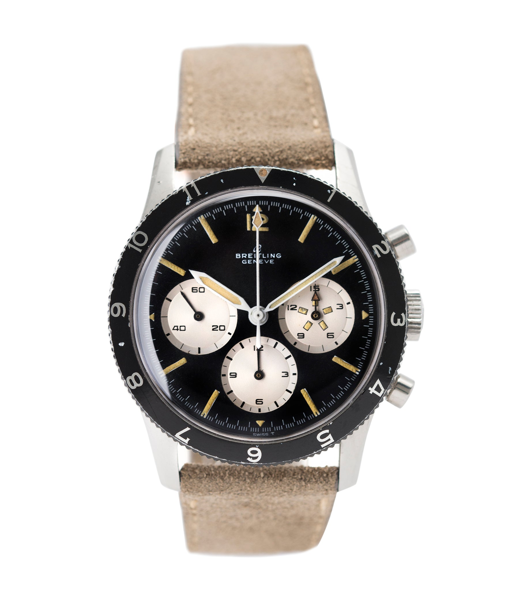 buy vintage Breitling 765 AVI pilot steel vintage chronograph watch online at A Collected Man London UK specialist of rare vintage watches